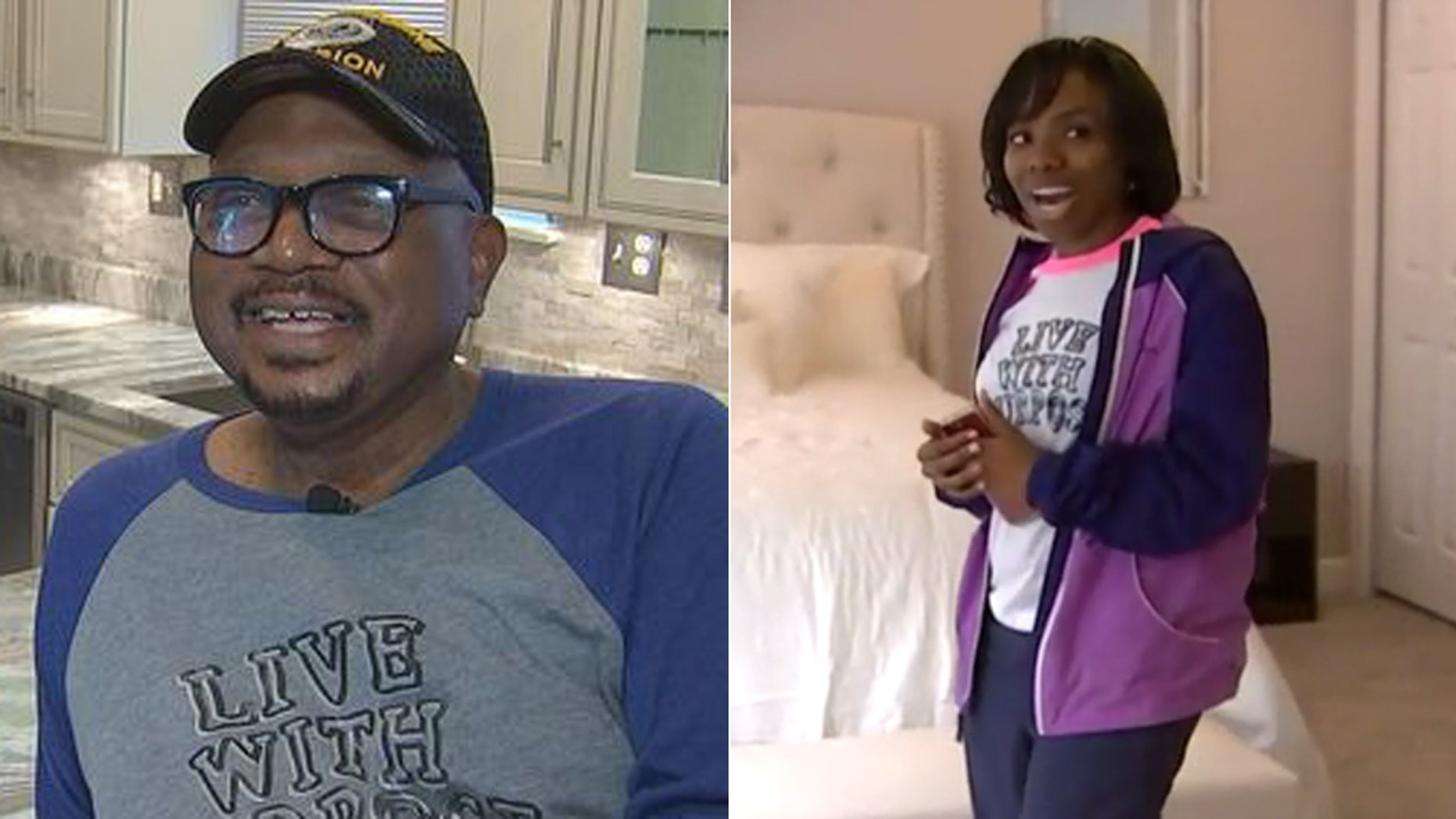 Mark, an Army veteran, and his granddaughter, Taj Renee, were surprised by a local design company.