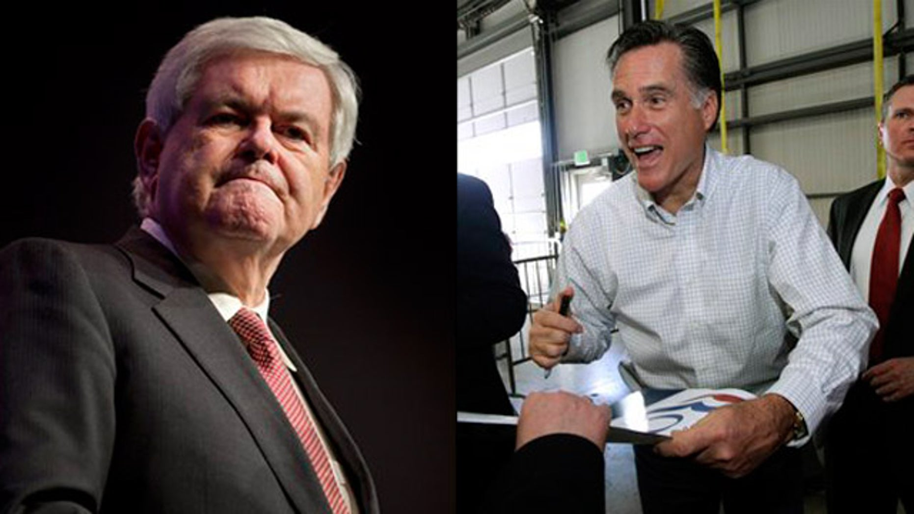Feb. 3, 2012: Newt Gingrich and Mitt Romney campaign in Nevada.