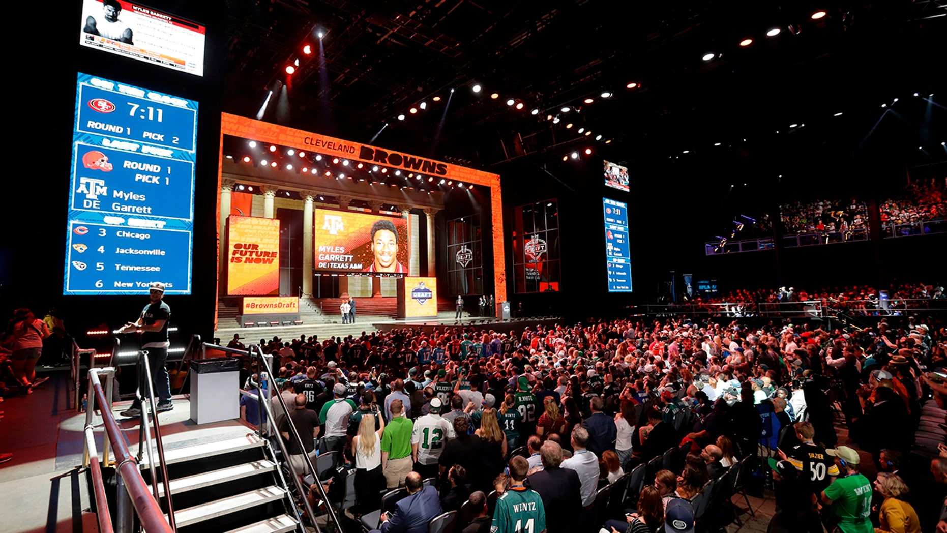 The NFL Draft begins Thursday night at 8 p.m.