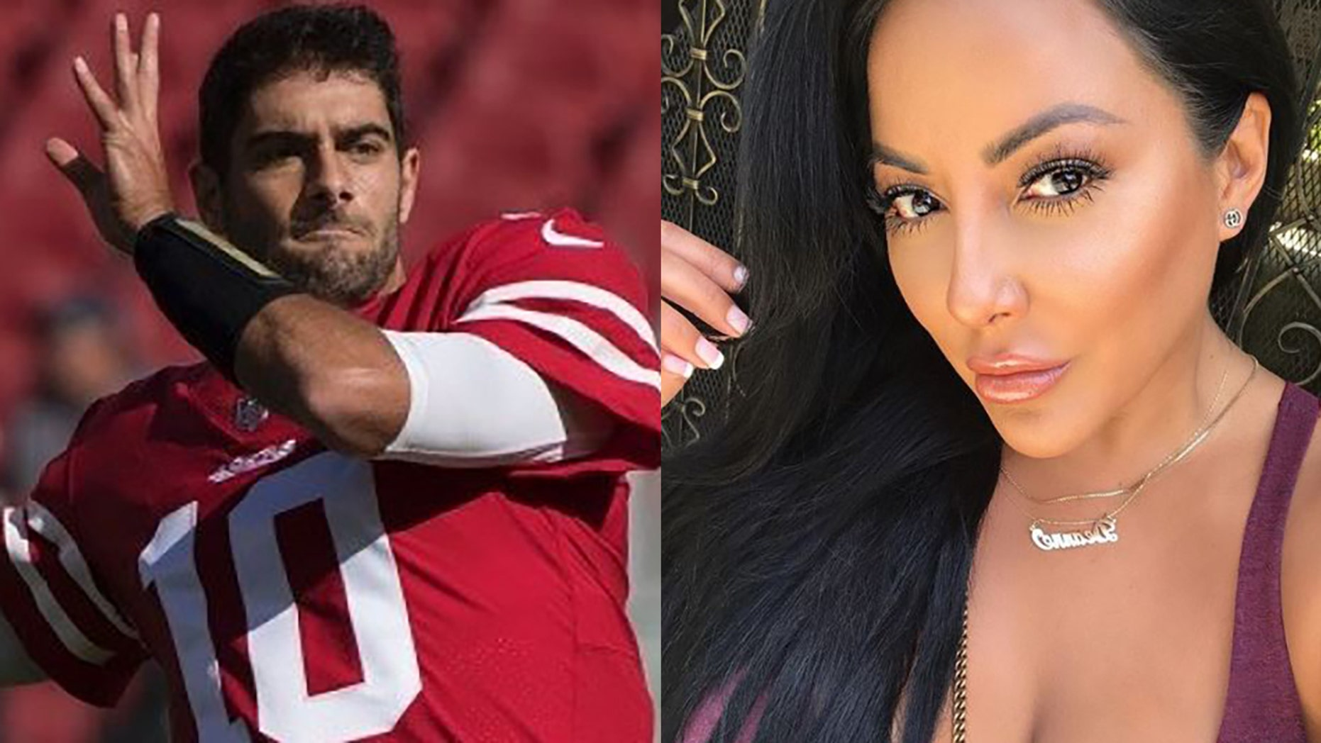 Jimmy Garoppolo reportedly went on a date with porn star Kiara Mia.