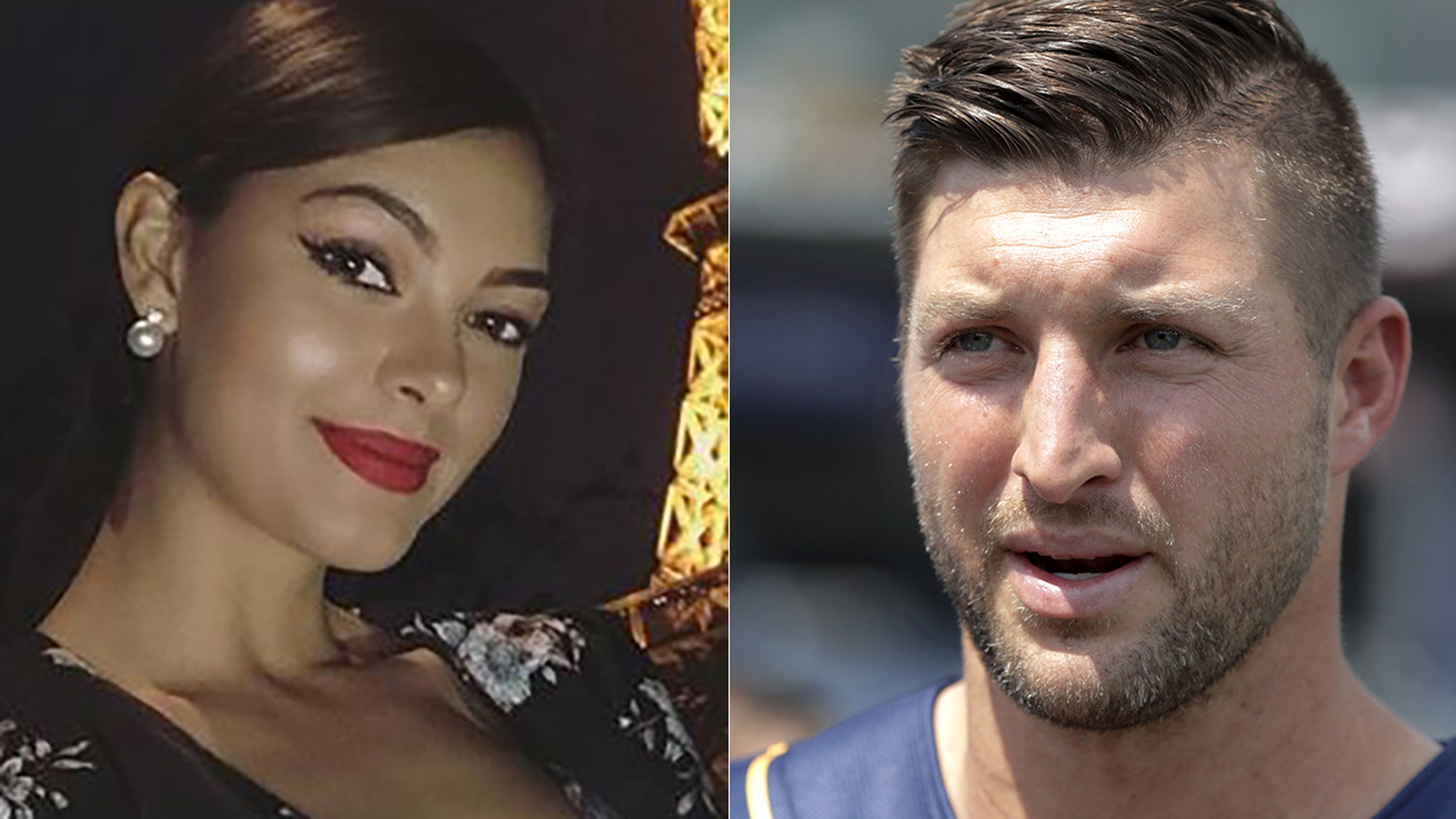 Demi-Leigh Nel-Peters, left, is dating Tim Tebow.