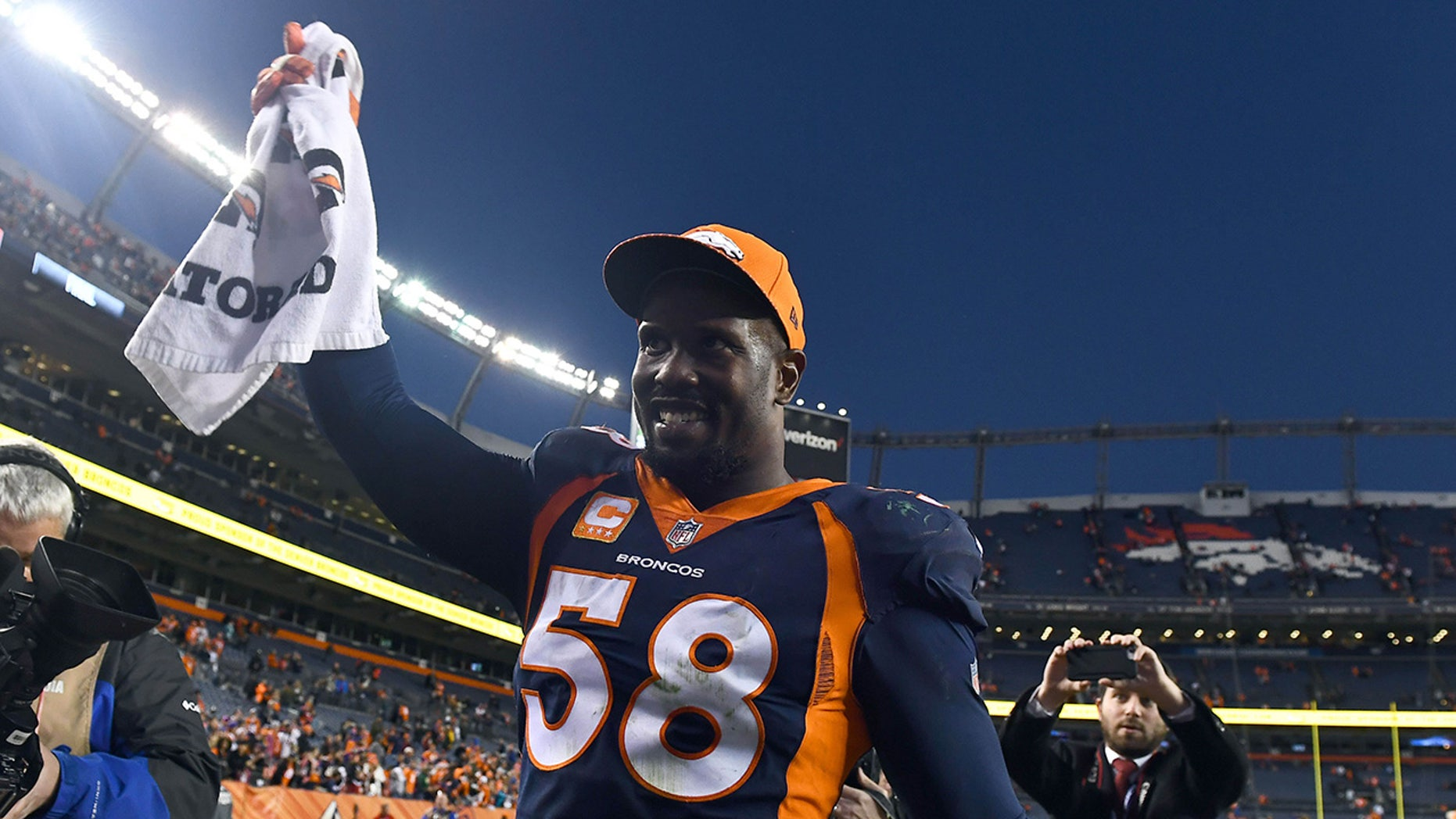 Broncos star Von Miller was not charged after being investigated for his handling of a hammerhead shark.