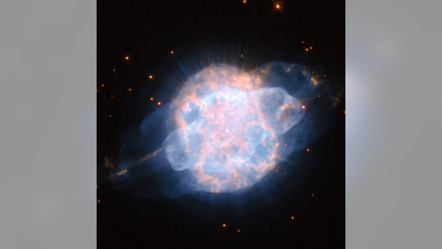Planetary nebula NGC 3918 shines bright like a cosmic eye. It's found in the southern sky, within the constellation Centaurus.