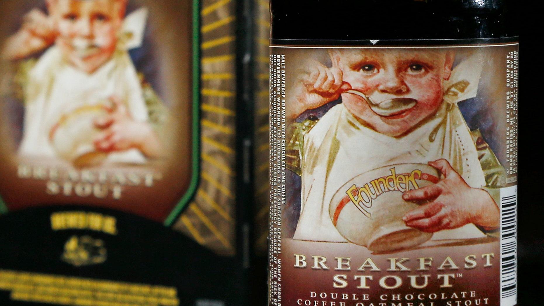 Jan. 15, 2015: Founders Brewing Breakfast Stout is photographed in North Andover, Mass.
