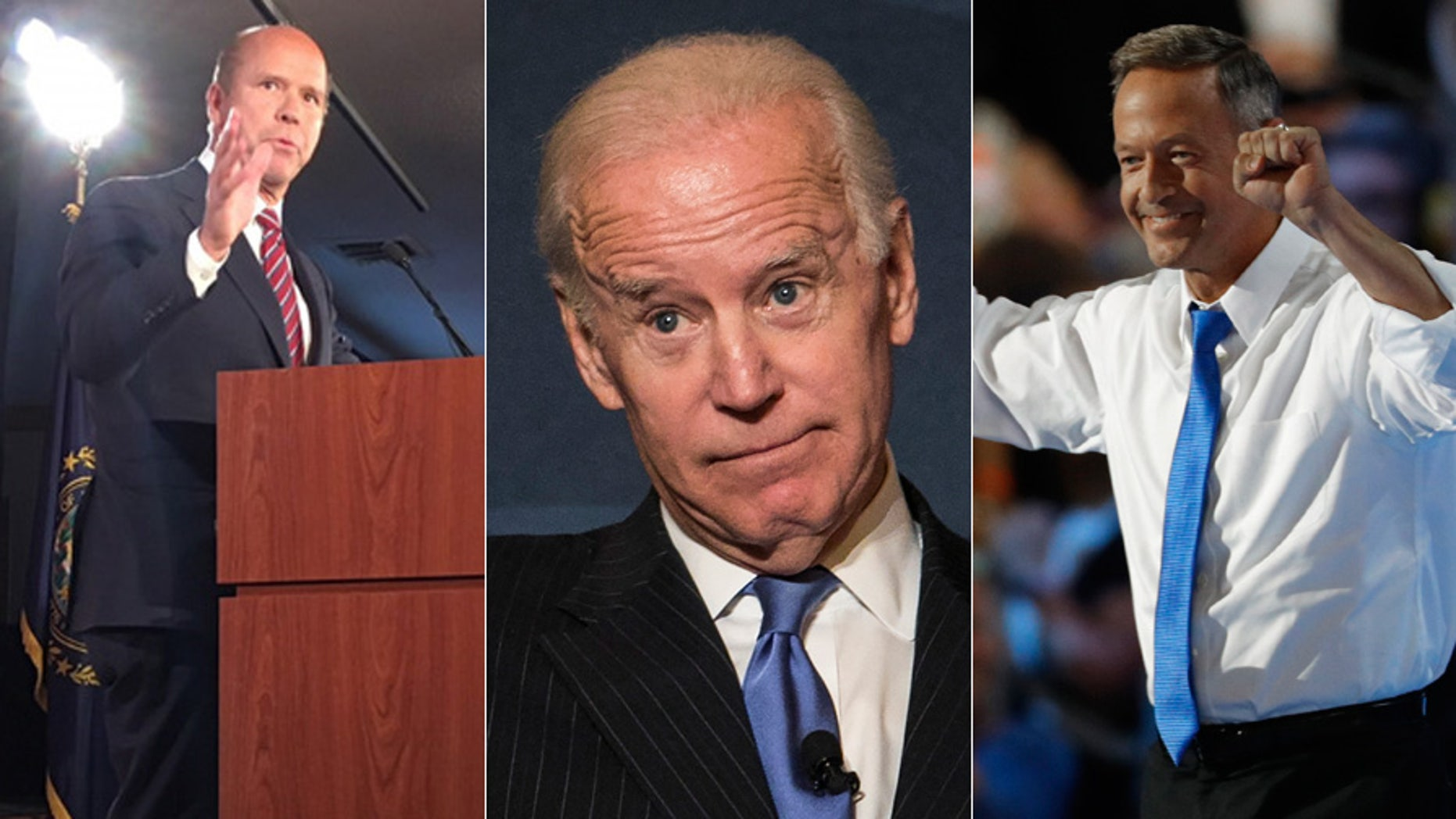 Rep. John Delaney, left; former Vice President Joe Biden, center; and former Maryland Gov. Martin O'Malley have all visited New Hampshire this year.