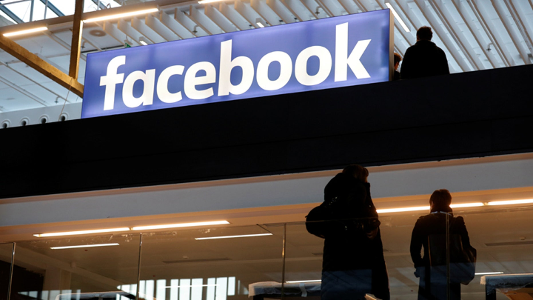 File photo: Facebook logo is seen at a start-up companies gathering at Paris' Station F in Paris, France, January 17, 2017. REUTERS/Philippe Wojazer