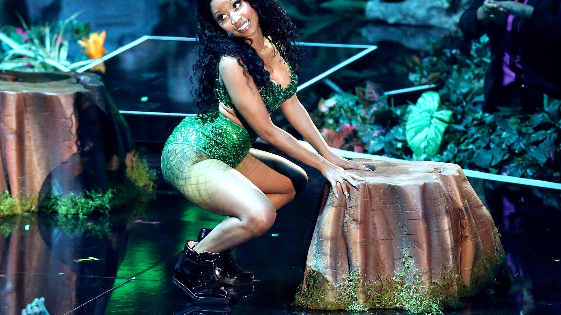 Aug. 24, 2014. Nicki Minaj performs at the MTV Video Music Awards at The Forum in Inglewood, Calif.