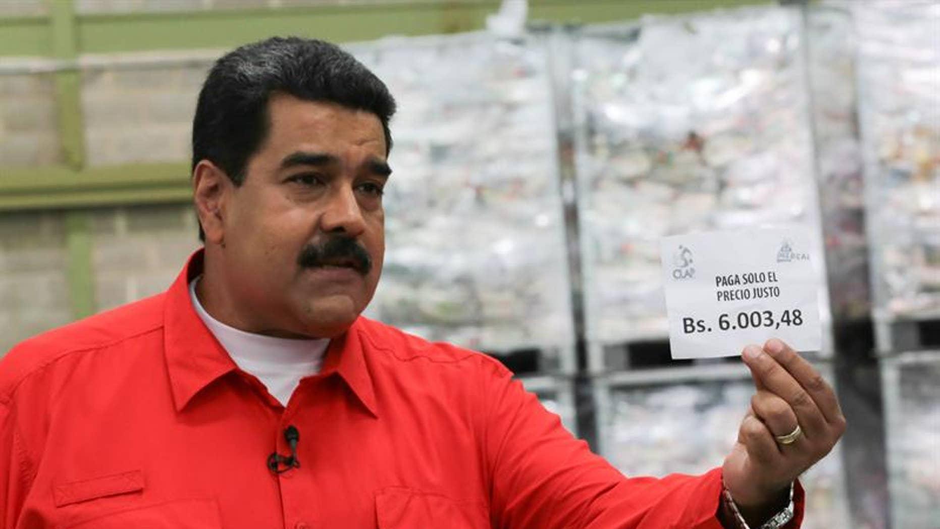 Venezuela's president Nicolas Maduro.