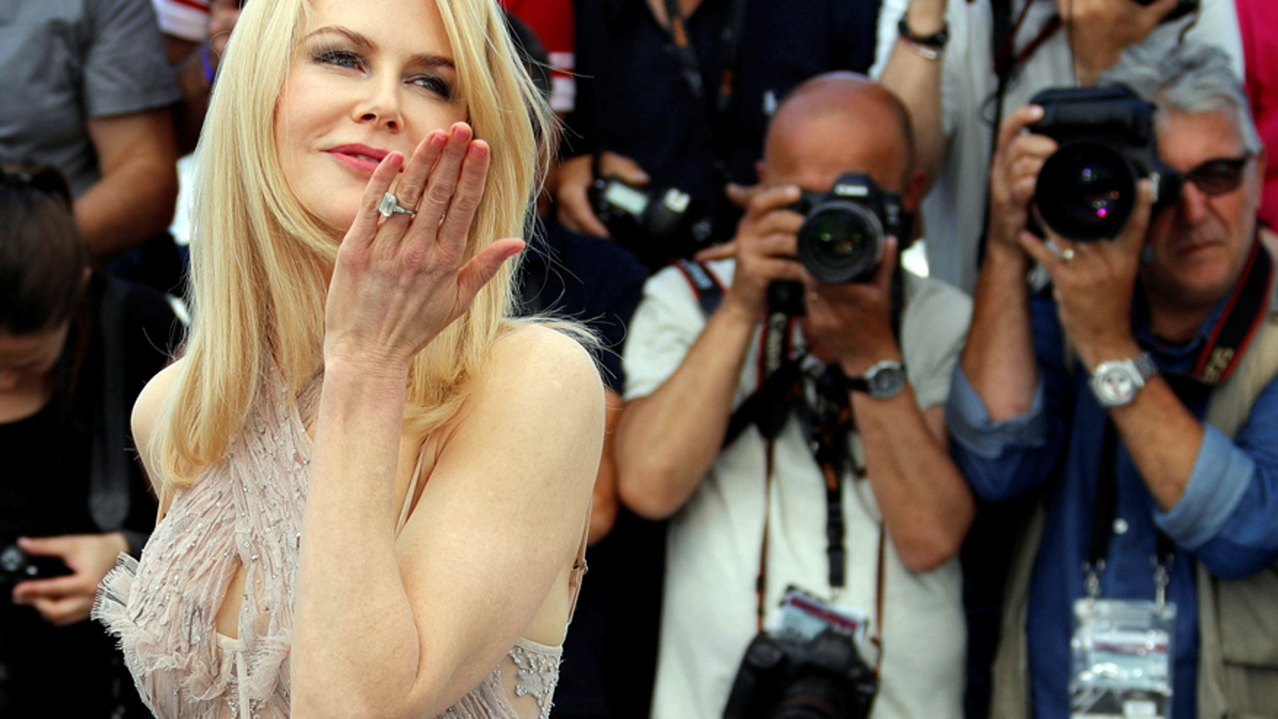 """Cast member Nicole Kidman poses for a photocall for the film """"The Beguiled"""" at the 70th Cannes Film Festival on May 24, 2017."""