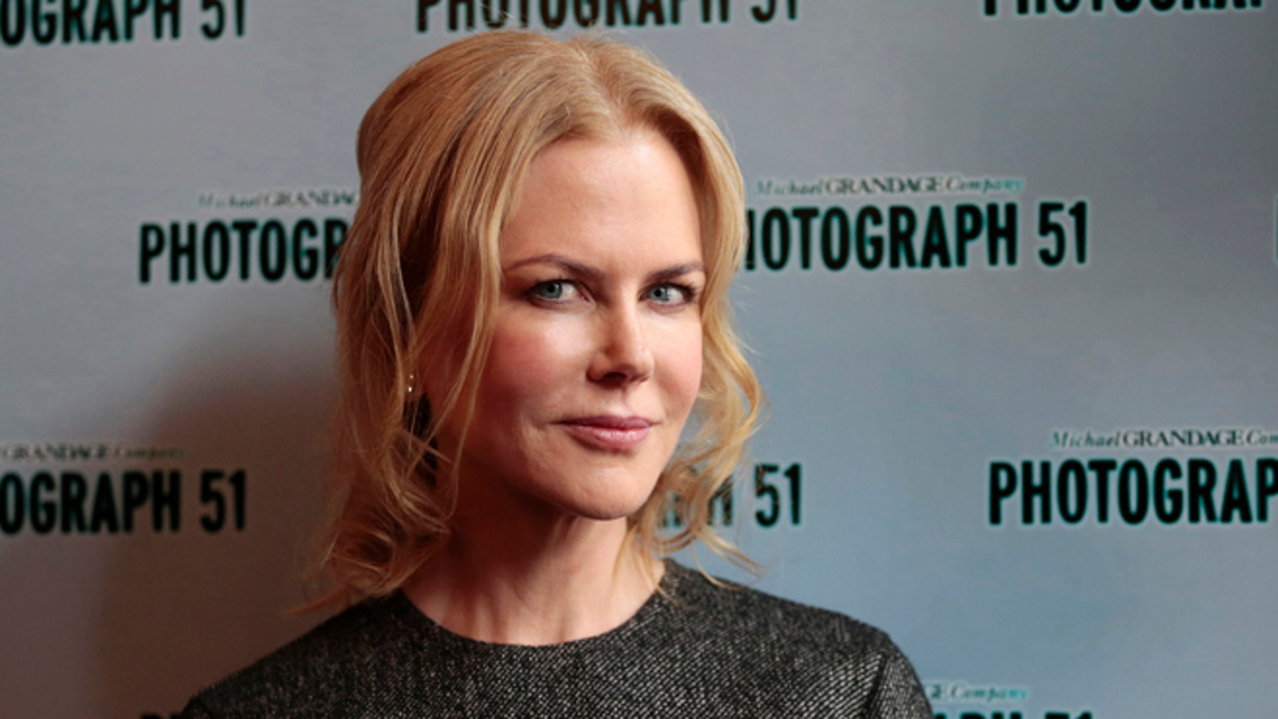 September 7, 2015. Nicole Kidman poses for a photograph at the Noel Coward Theatre in London, Britain.