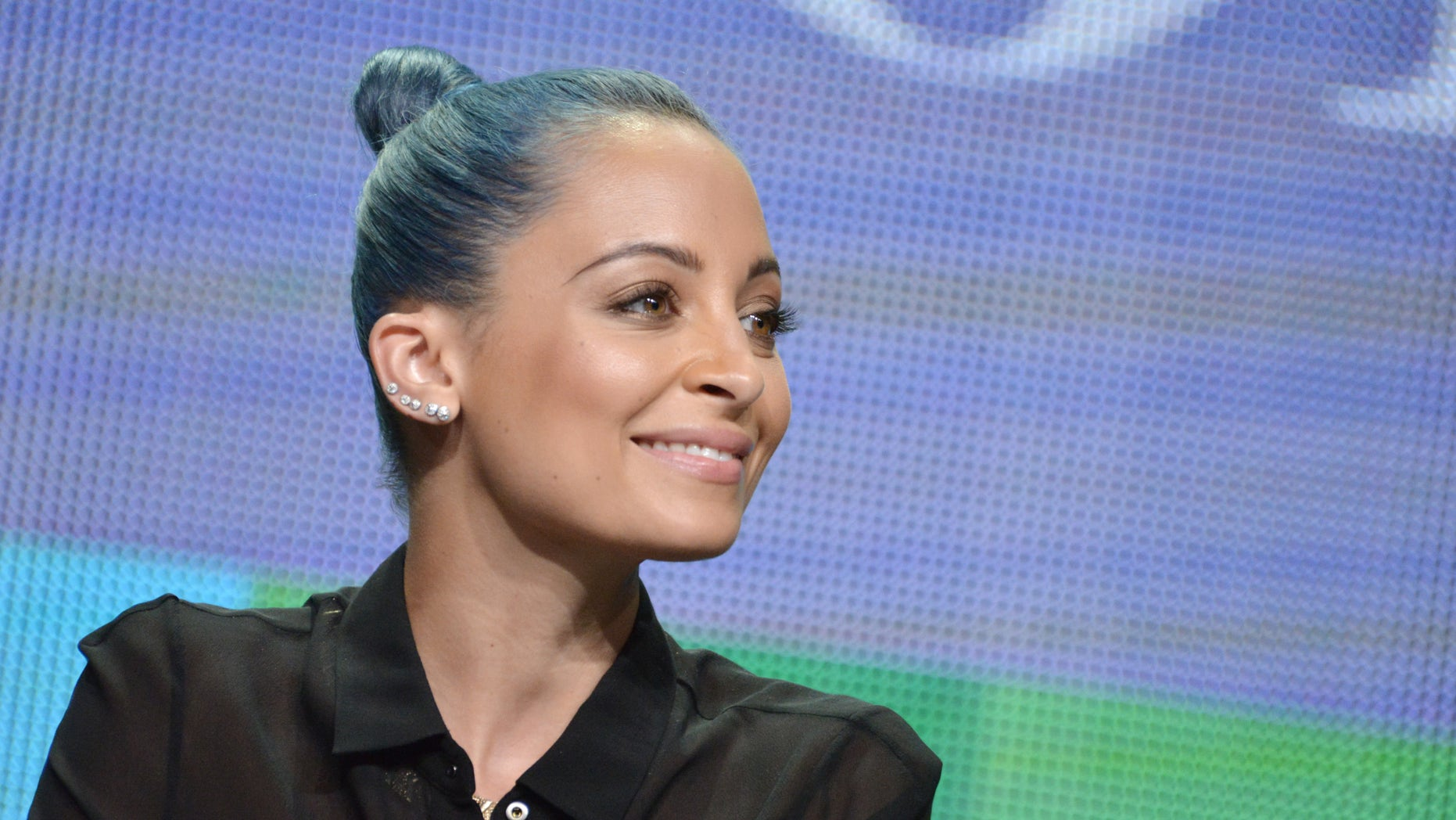 "July 11, 2014. Nicole Richie participates in the VH1 2014 Summer TCA - ""Candidly Nicole"" panel at the Beverly Hilton Hotel in Beverly Hills, Calif."