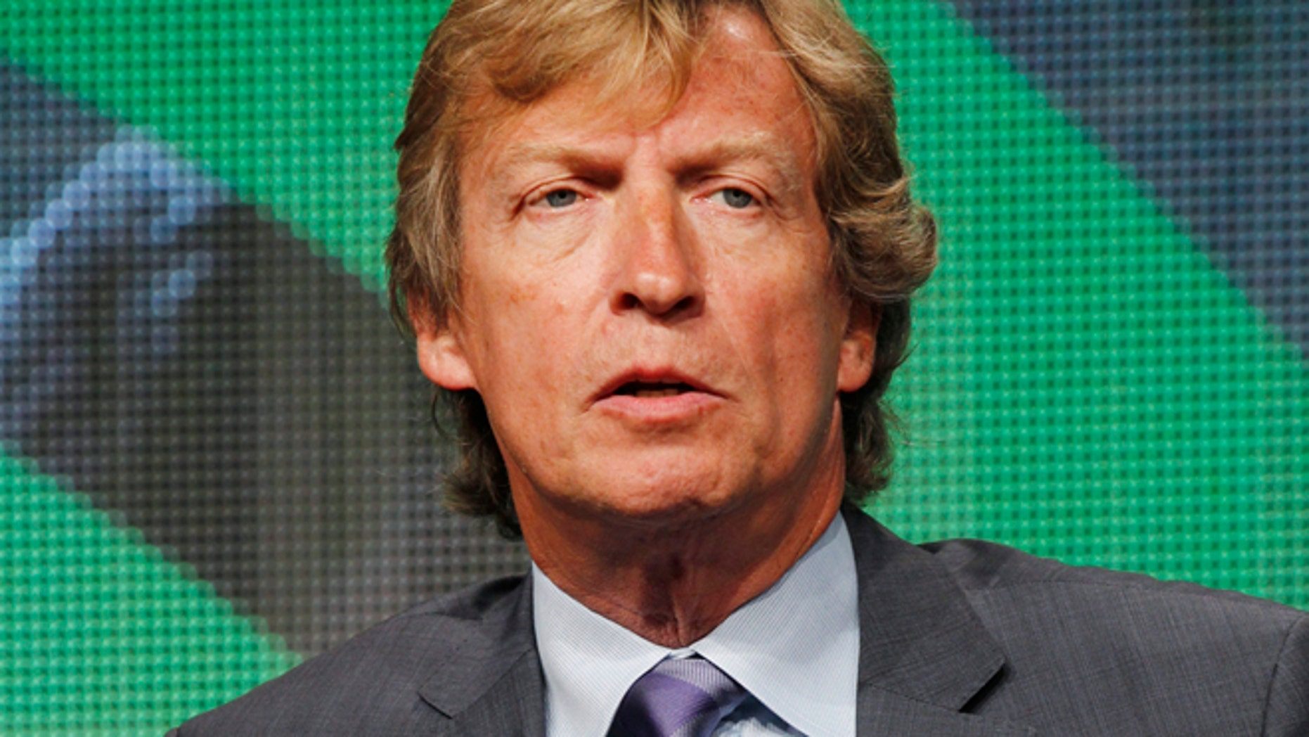 """Producer Nigel Lythgoe speaks during a panel discussion about the Ovation cable channel series """"A Chance to Dance"""" featuring dancers Michael Nunn and William Trevitt at the cable portion of the Television Critics Association Summer press tour in Beverly Hills, California August 1, 2012."""