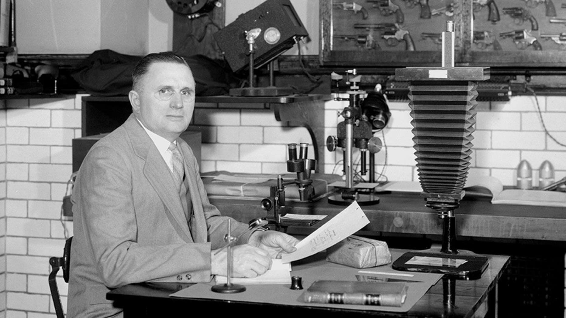 Wilmer Souder in his laboratory at the National Bureau of Standards in Washington, D.C., April 11, 1935. (Credit: NBS/NIST; source: NARA)