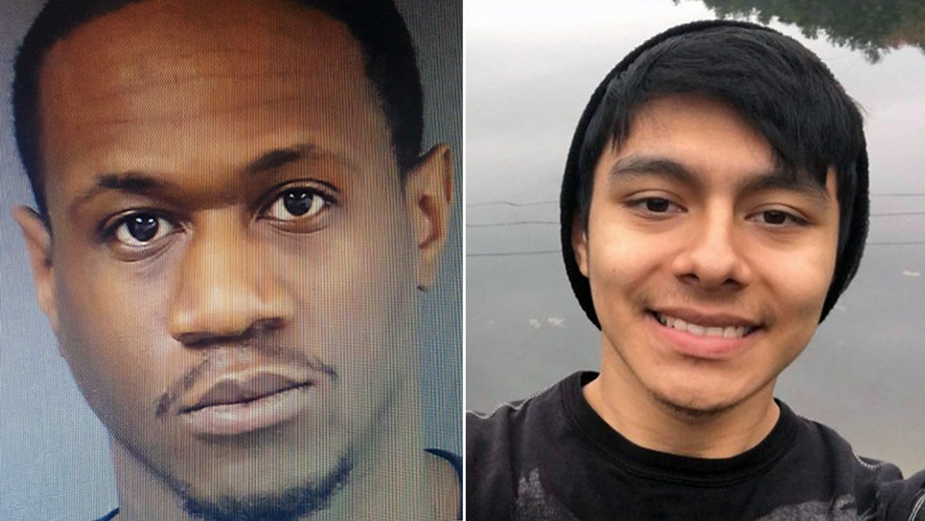 Rufus Thompson, left, is accused of kidnapping and murdering Danny Diaz-Delgado near Trenton, N.J. last month.