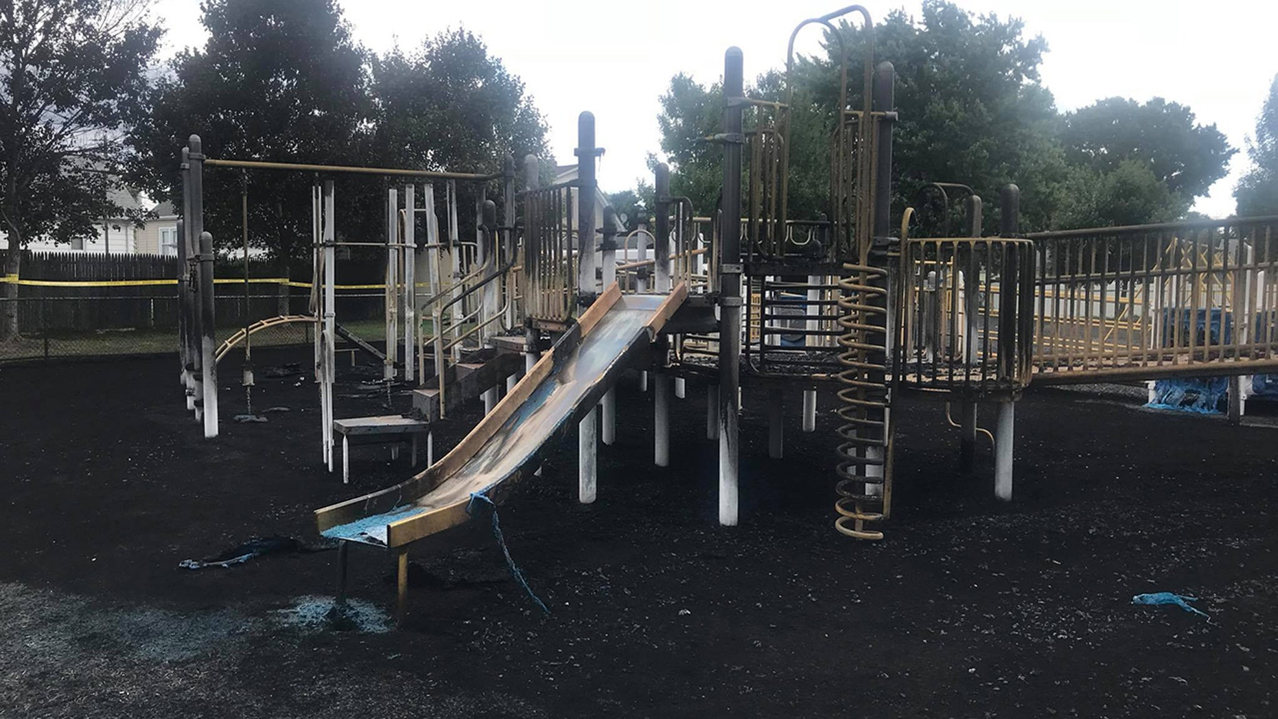 A playground for special needs children was torched.