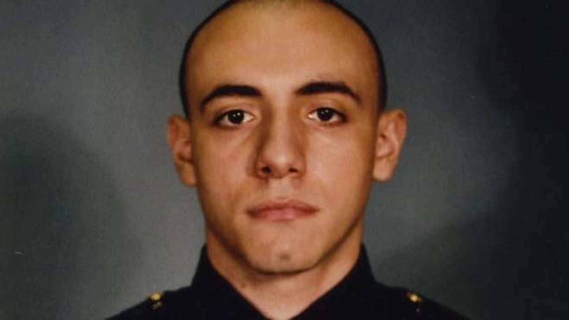 This photo provided by the Jersey City Mayor's office shows Officer Melvin Santiago.  (AP/Jersey City Mayor's office)