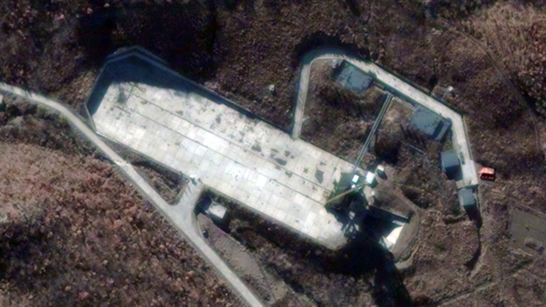 Nov. 26, 2012: This satellite image shows the Sohae Satellite Launch Station in Cholsan County, North Pyongan Province, North Korea.
