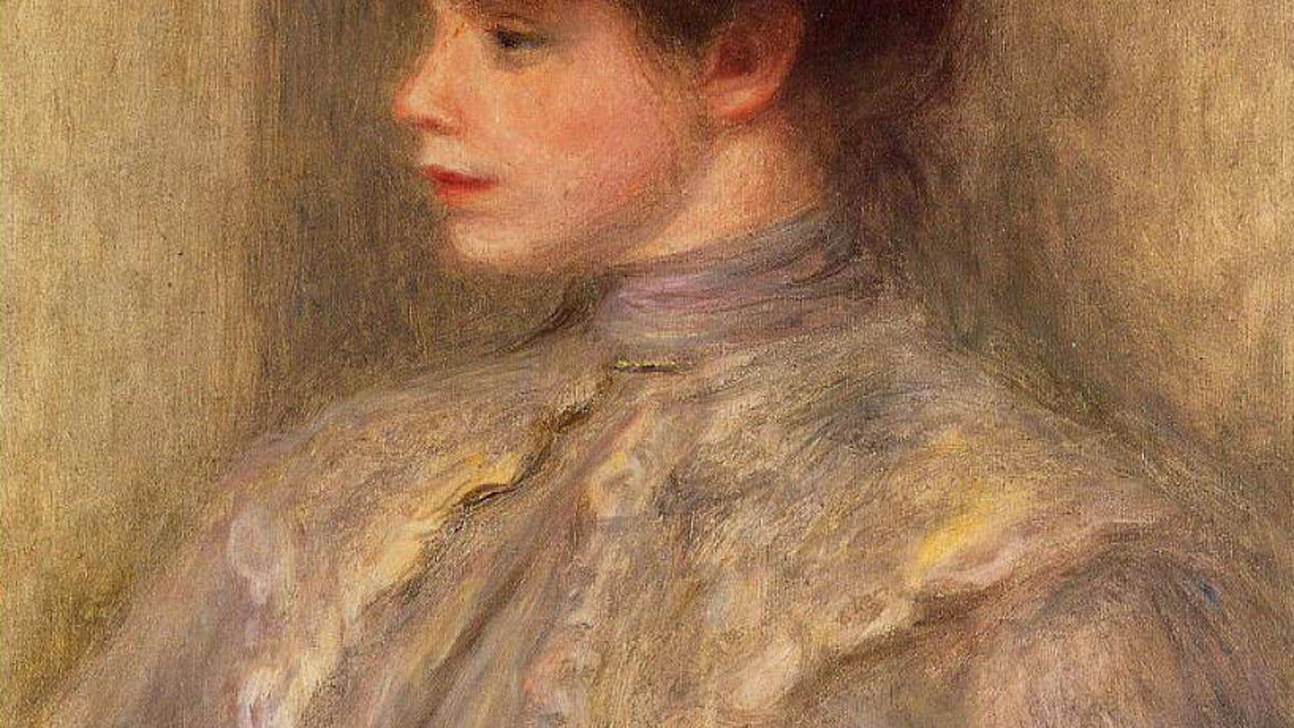 """""""Madame Valtat,"""" by French impressionist Pierre-Auguste Renoir, was stolen from a Tokyo man's home in 2000 and sold at auction in February by Sotheby's in London."""