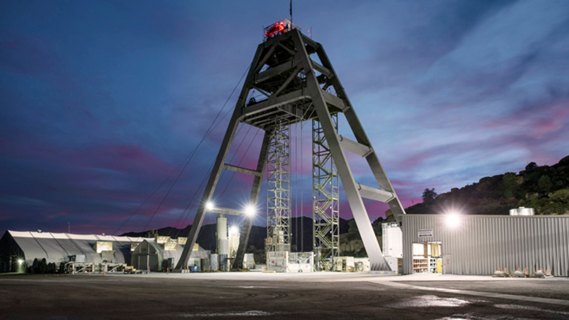 The No. 10 shaft at the Resolution Copper mine near Superior, Arizona. (Photo: Barbara Mannino/FoxNews.com)