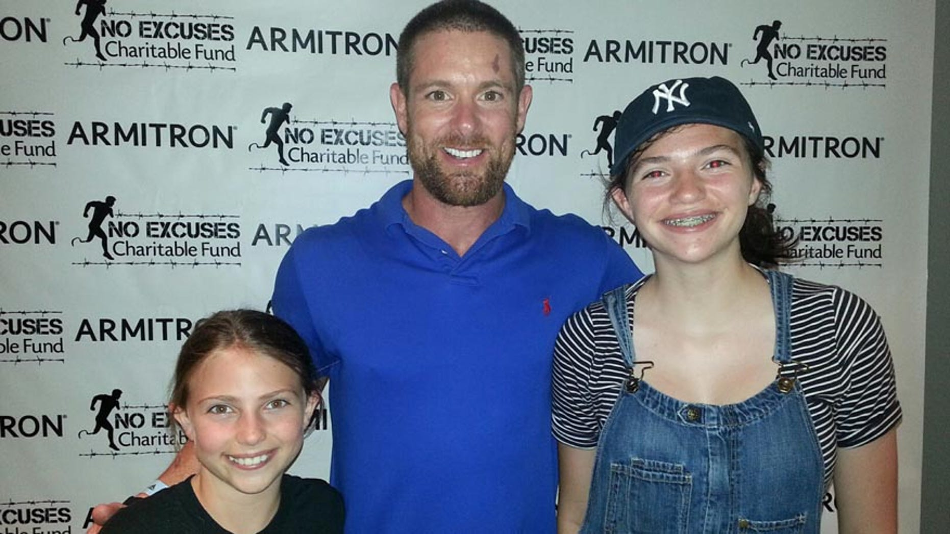 Noah Galloway hangs out with fans at Yankee Stadium on August 4, 2015.