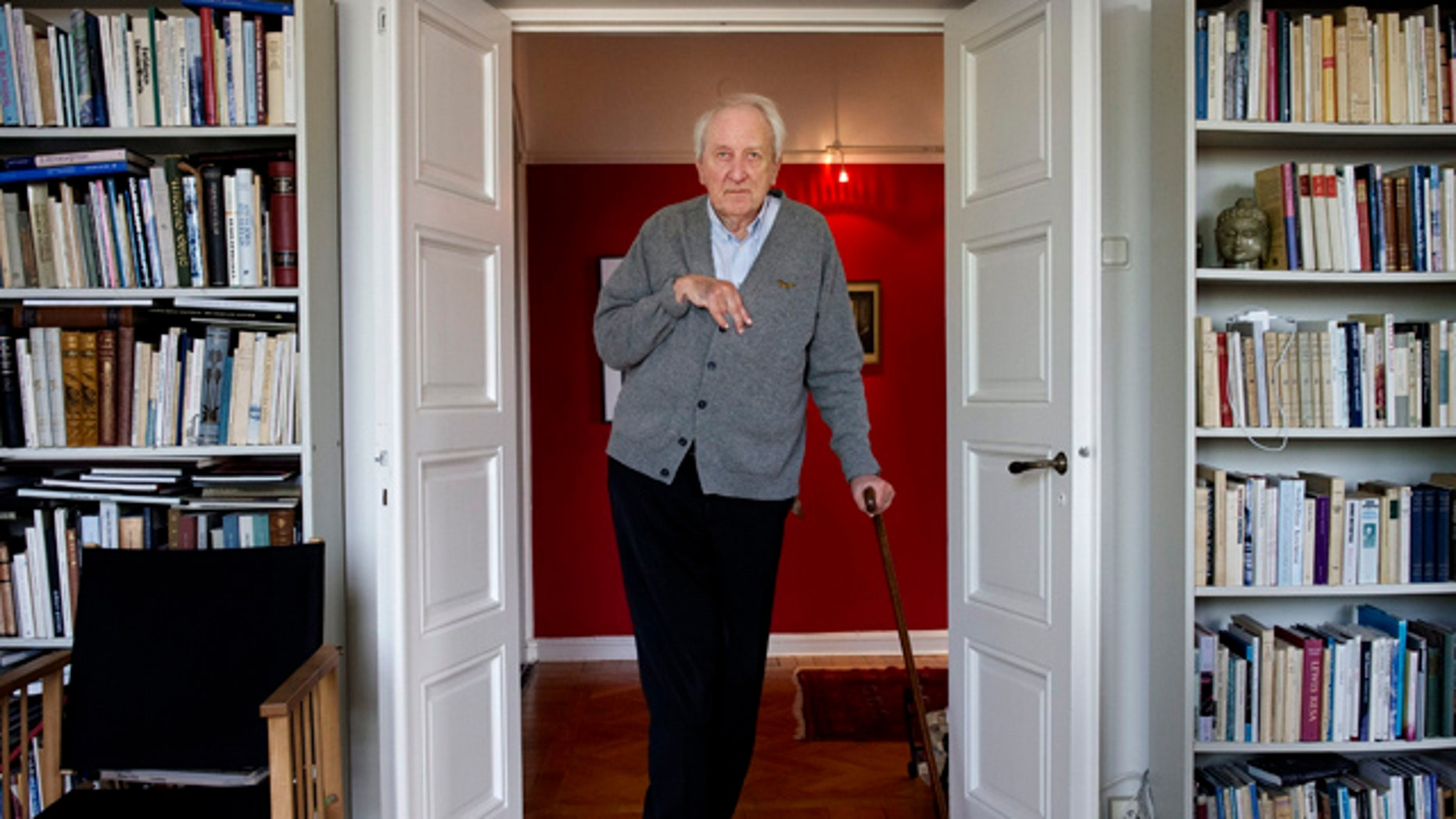 FILE 2011: Tomas Transtromer at his home in Stockholm, Sweden.