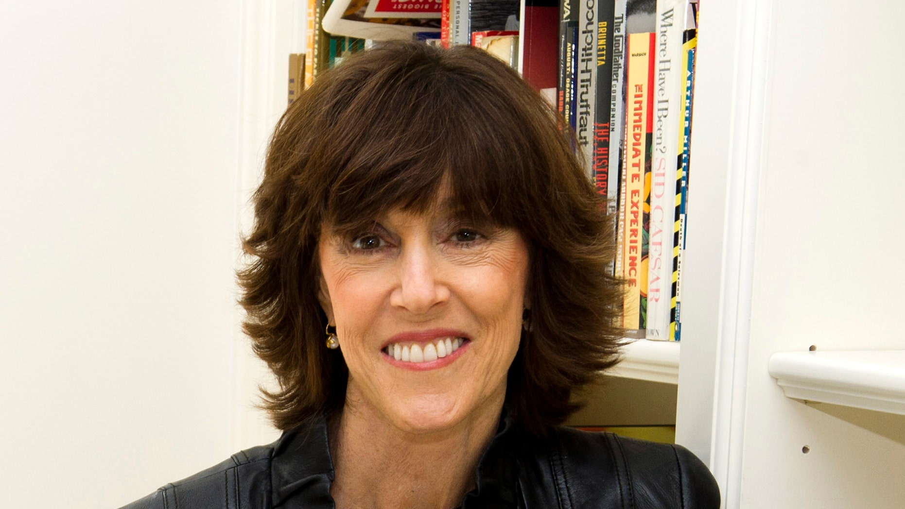FILE - This Nov. 3, 2010 file photo shows author, screenwriter and director Nora Ephron at her home in New York.  Publisher Alfred A. Knopf confirmed Tuesday, June 26, 2012, that author and filmmaker Nora Ephron died Tuesday of leukemia in New York. She was 71. (AP Photo/Charles Sykes, file)