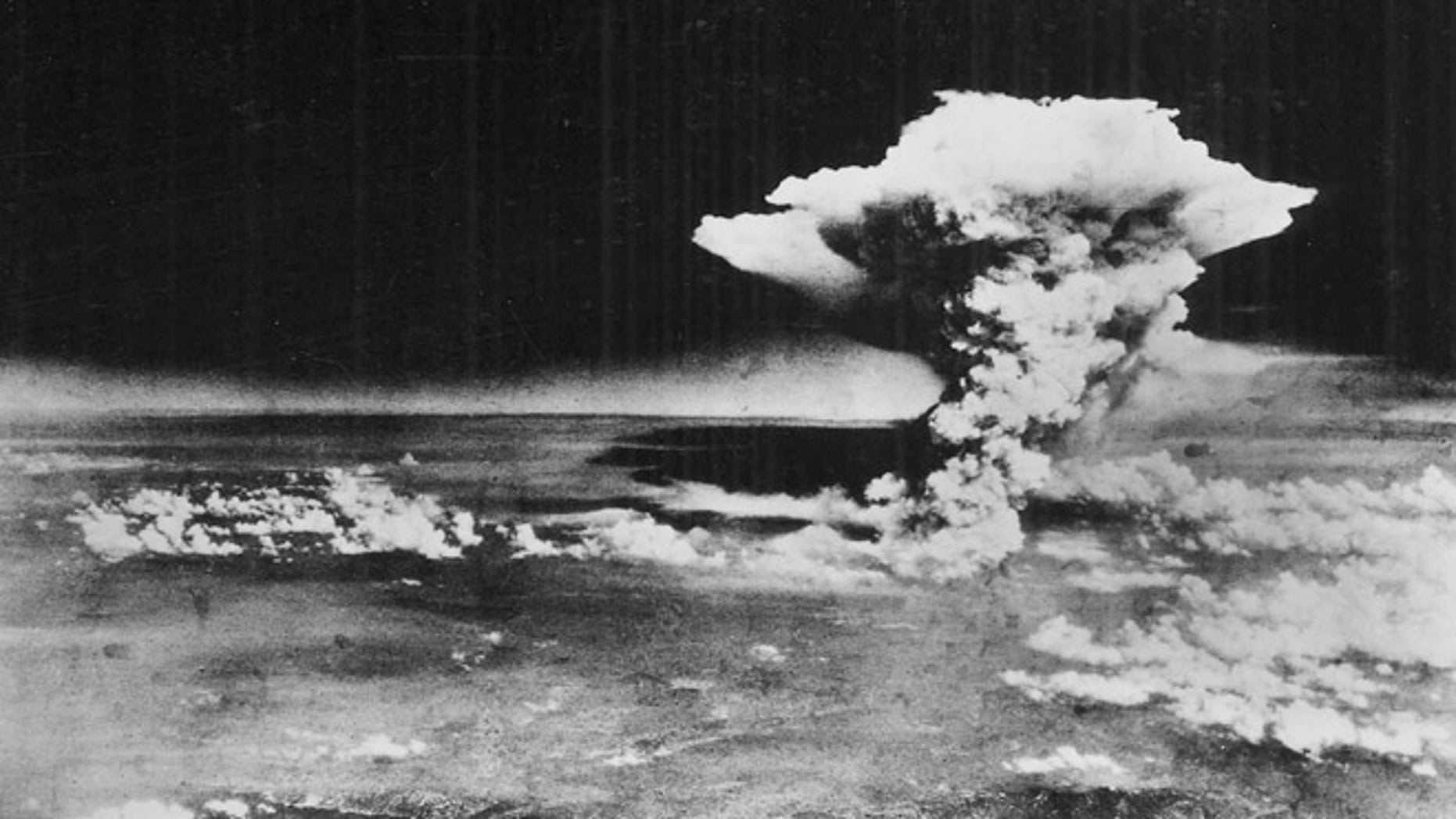 FILE Aug. 6, 1945: Photo released by the U.S. Army, a mushroom cloud billows about one hour after an atomic bomb was detonated above Hiroshima, western Japan.
