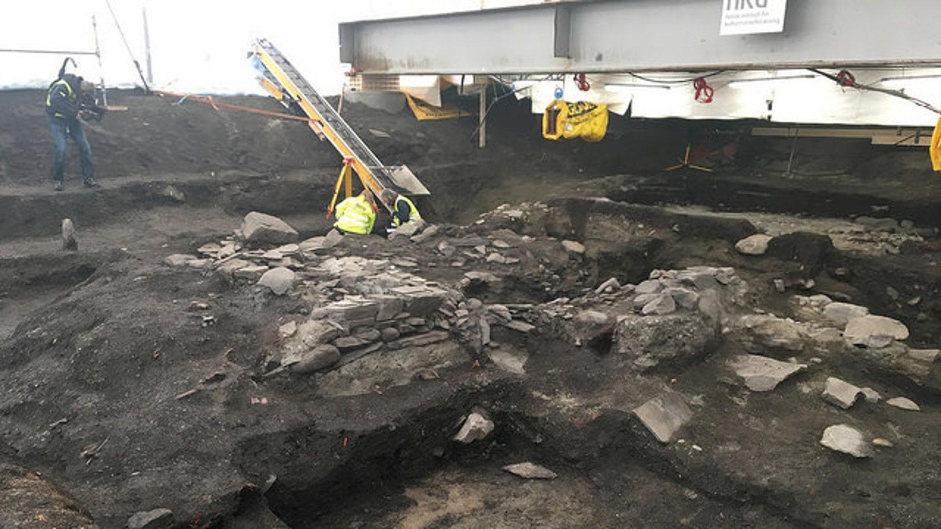 The excavation site in Trondheim (NIKU).