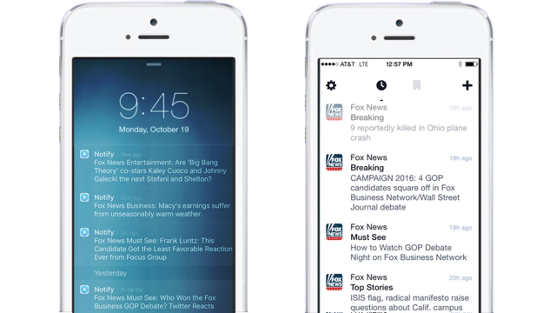 (Screenshot of Facebook's new Notify app)