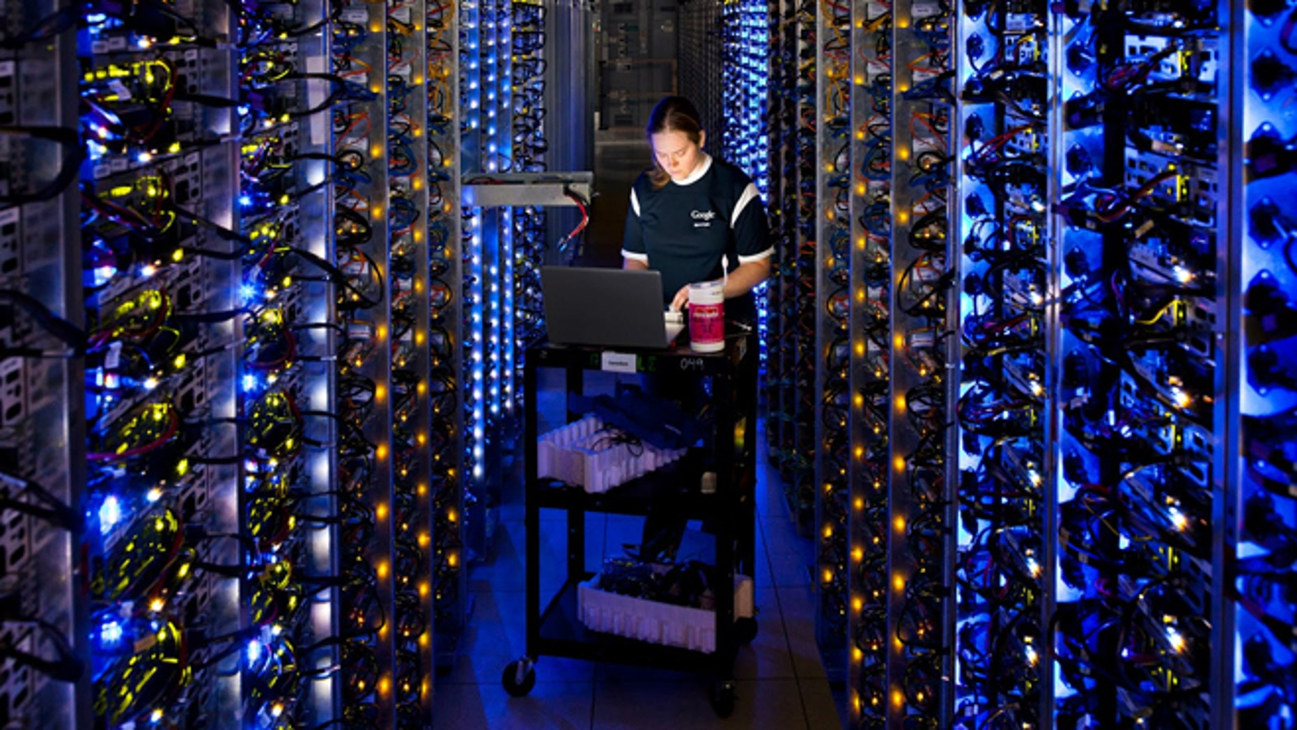 Denise Harwood diagnoses an overheated computer processor at Google's data center in The Dalles, Ore.