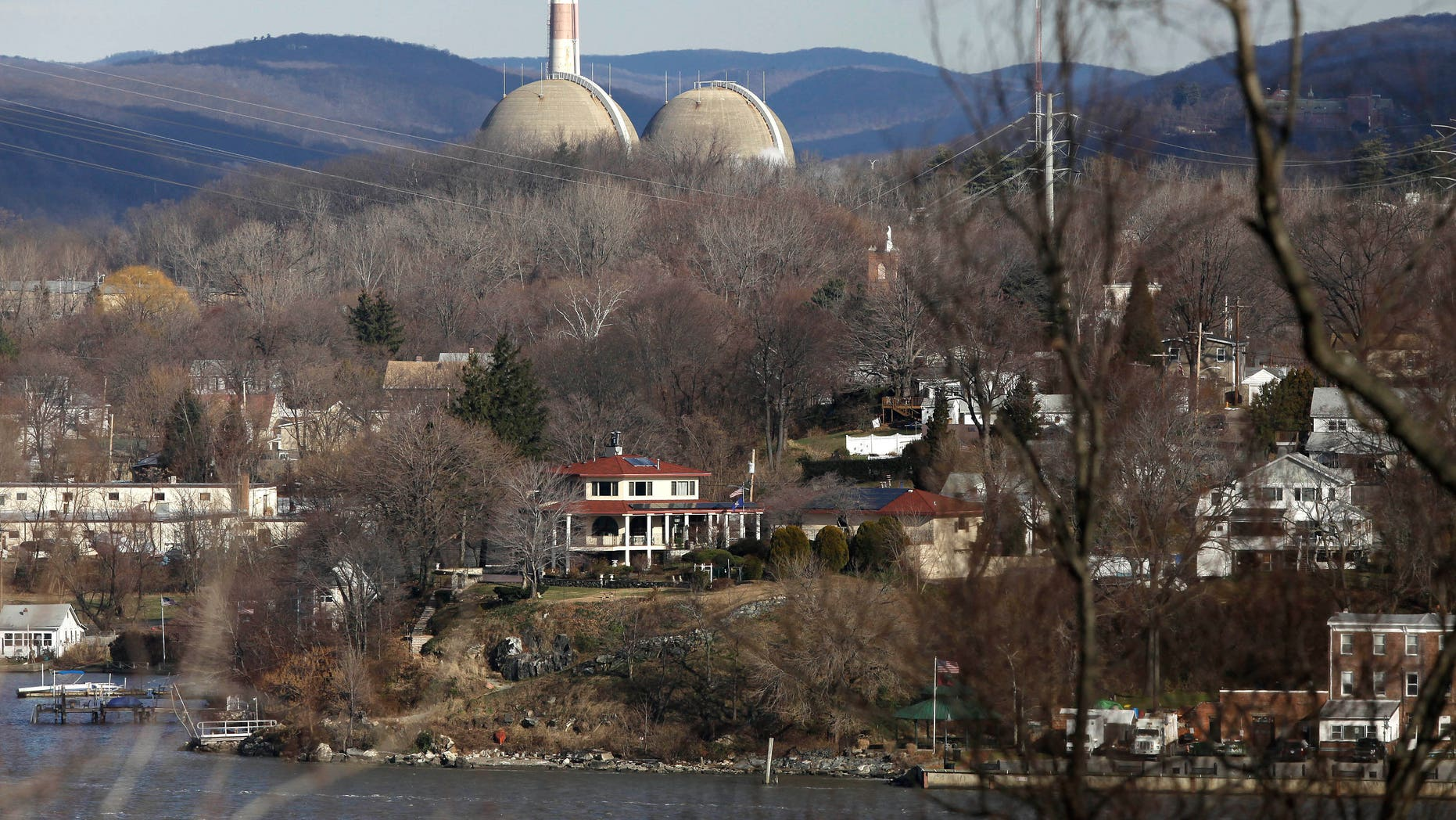 Reactor containment domes of the Indian Point nuclear reactor in Buchanan, N.Y.