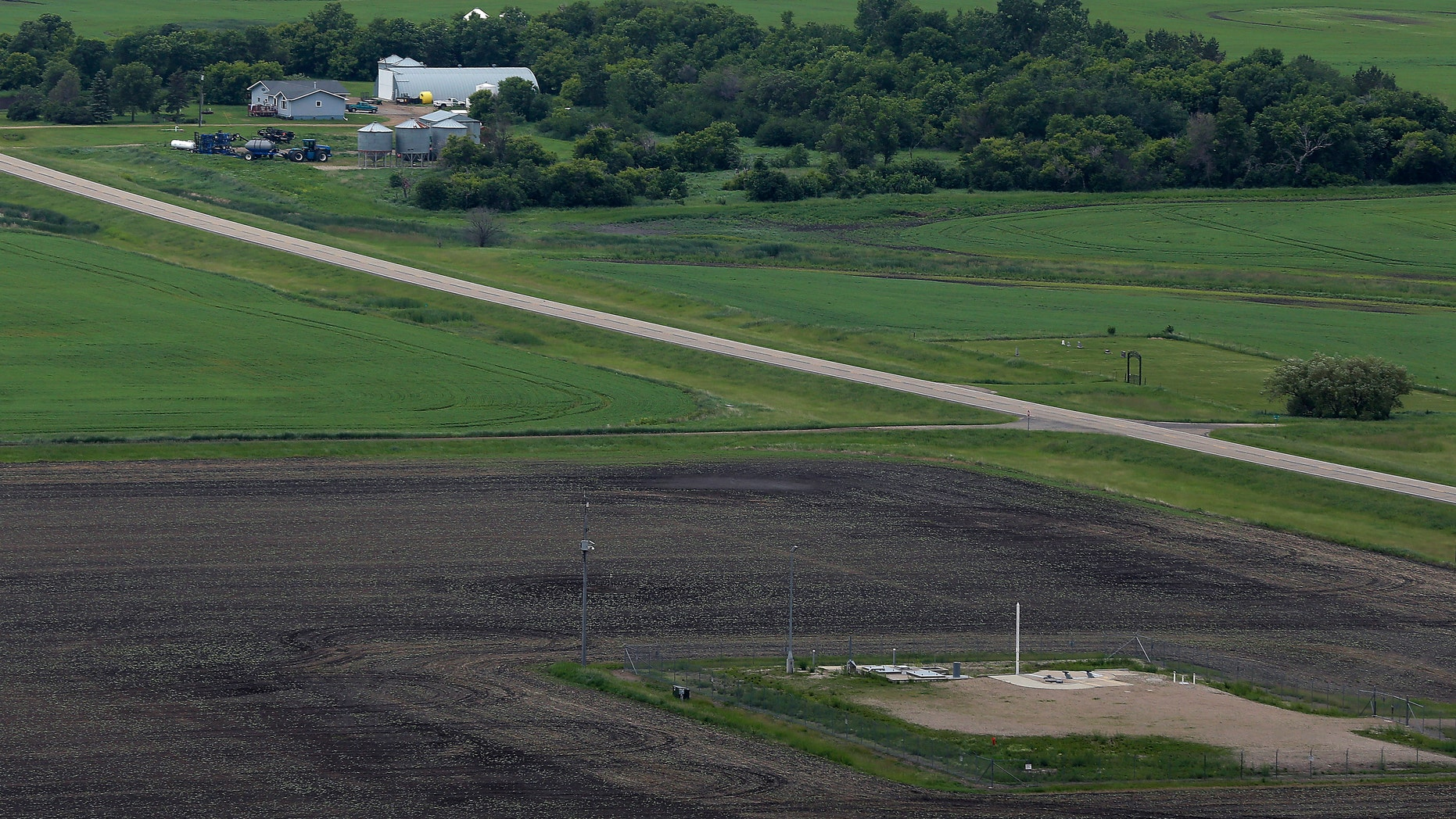 June 24, 2014: ICBM launch site located among fields and farms in the countryside outside Minot, N.D.