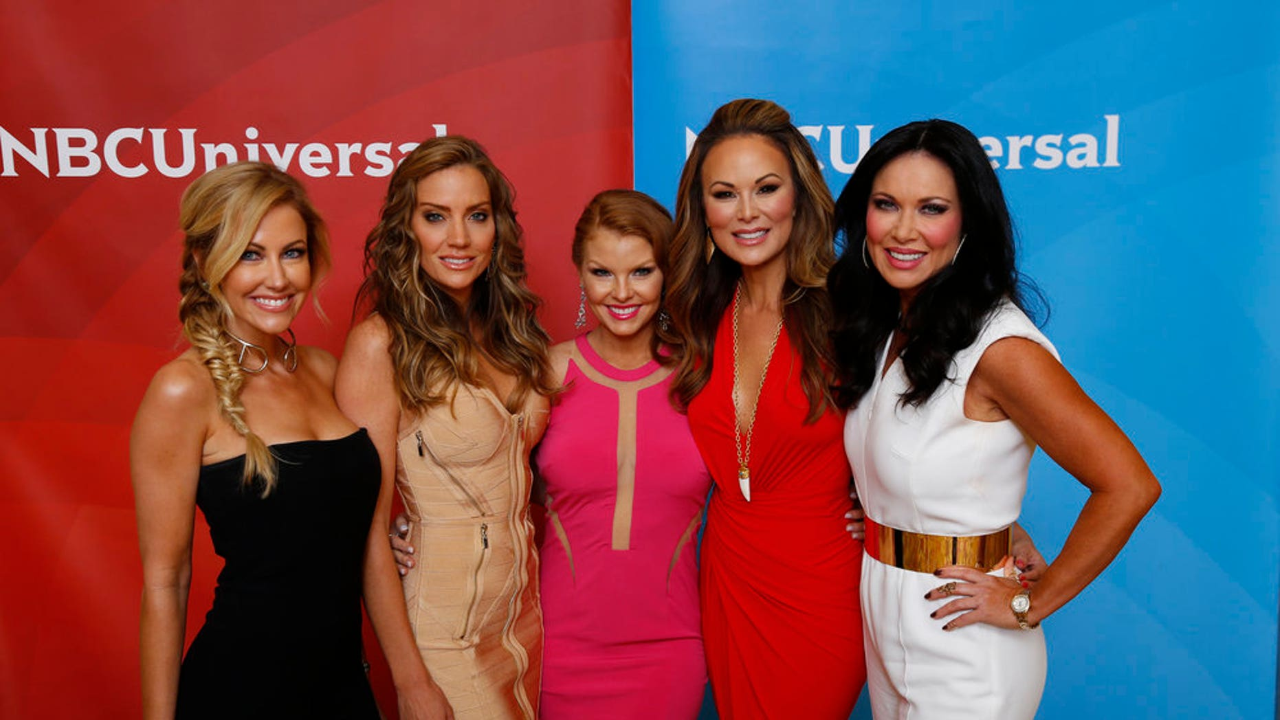 "NBCUNIVERSAL EVENTS -- NBCUniversal Summer Press Day, April 1, 2016 -- Bravo's ""The Real Housewives of Dallas"" -- Pictured: (l-r) Stephanie Hollman, Cary Deuber, Brandi Redmond, Tiffany Hendra, LeeAnne Locken -- (Photo by: Paul Drinkwater/NBCUniversal)"