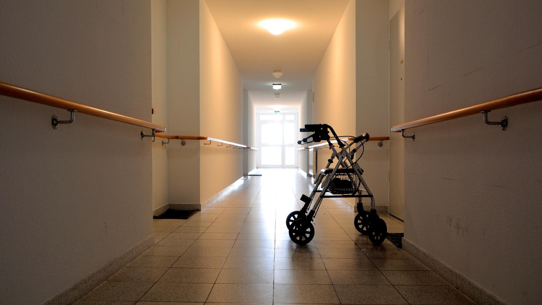 Corridor in a no longer exists nursing home in Magdeburg