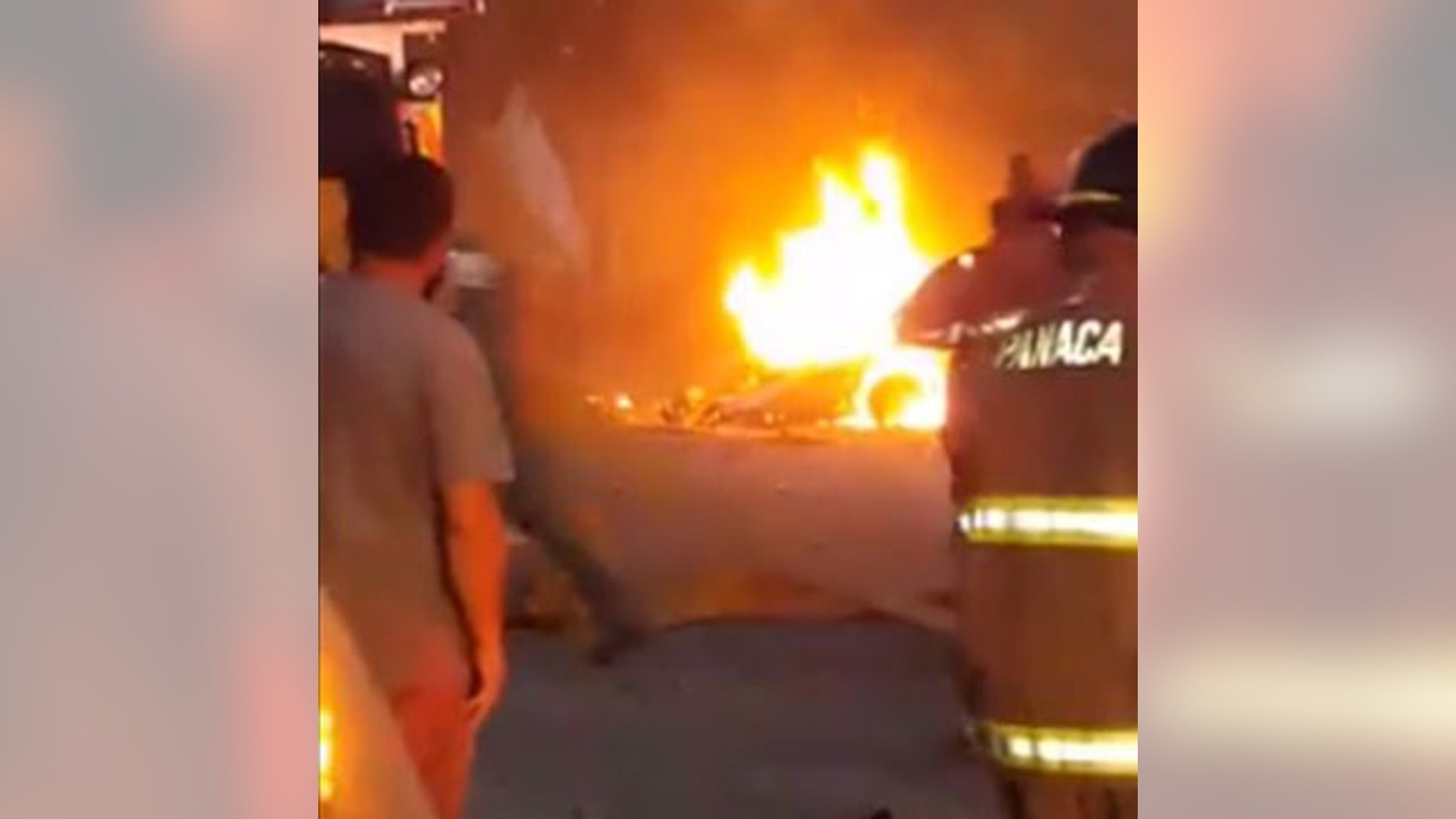 July 13, 2016: Firefighters respond to an explosion in Panaca, Nev.