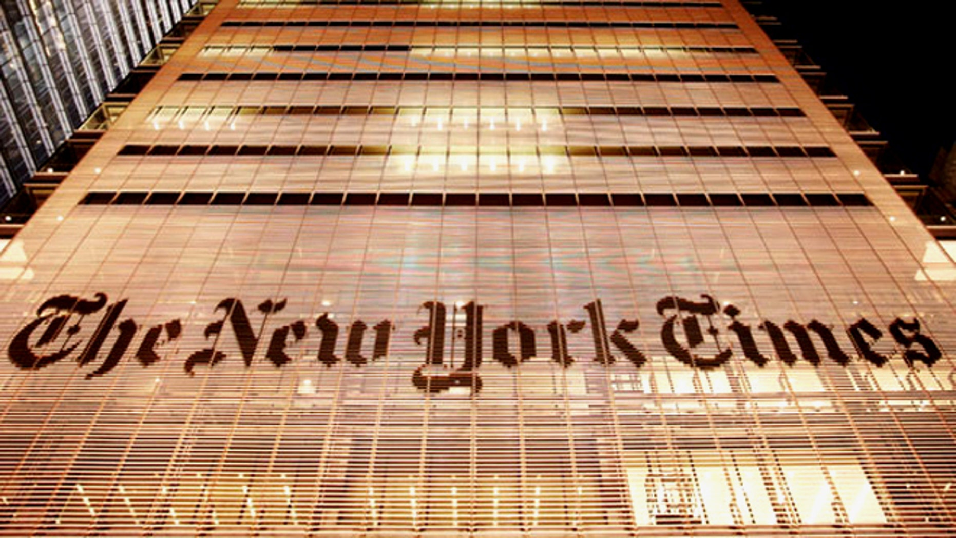 The New York Times building is shown in New York.
