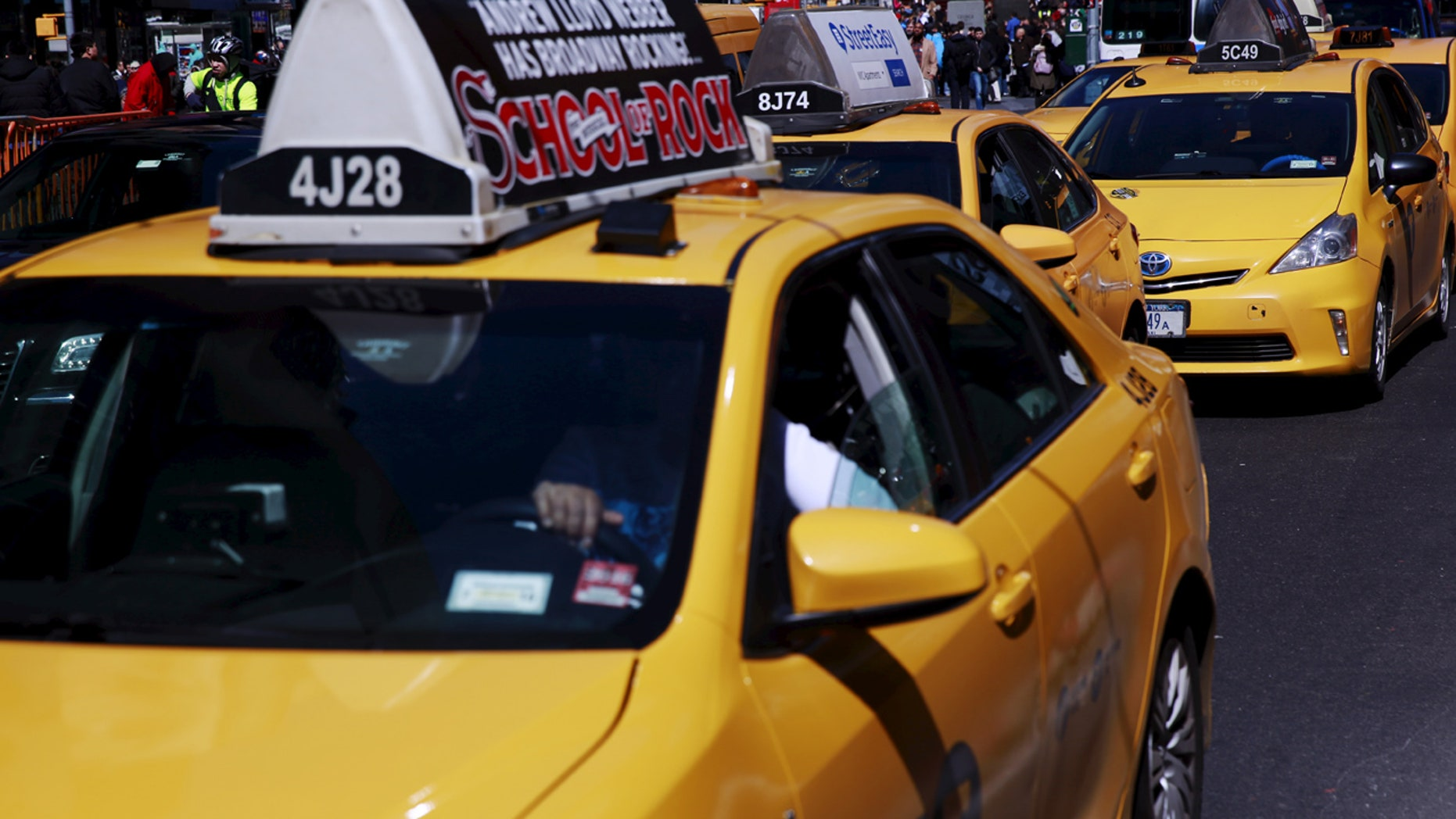 A New York cab driver had his thumb sliced by a machete wielded by a group of teens, police said.