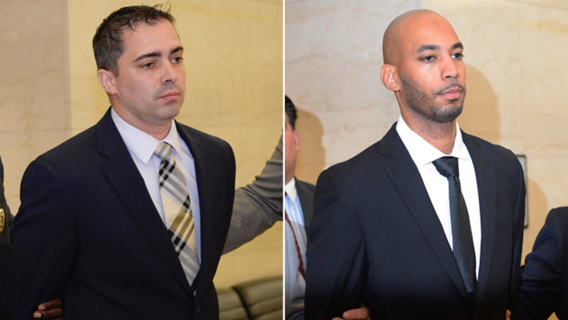 A teenager claimed two NYPD detectives raped her while she was under arrest.
