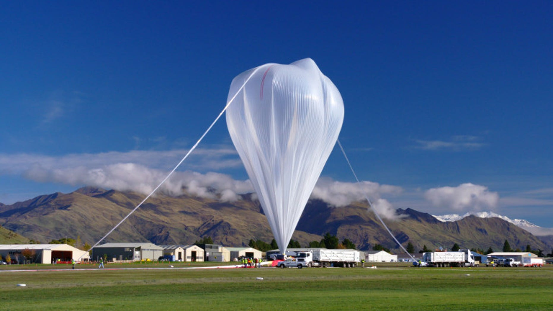 The balloon before launch in New Zealand on May 16, 2016.