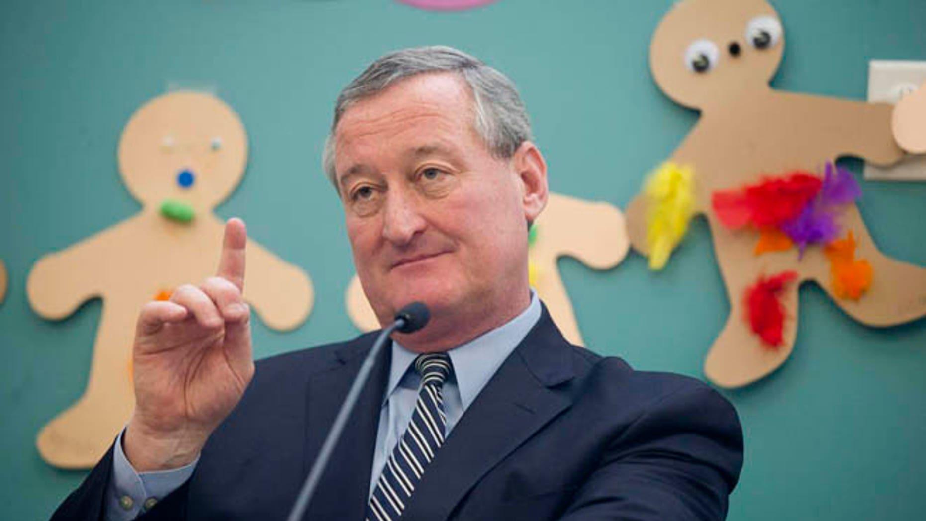 Philadelphia Mayor James Kenney (D) is shown in this AP photo. (Matt Rourke/Associated Press)