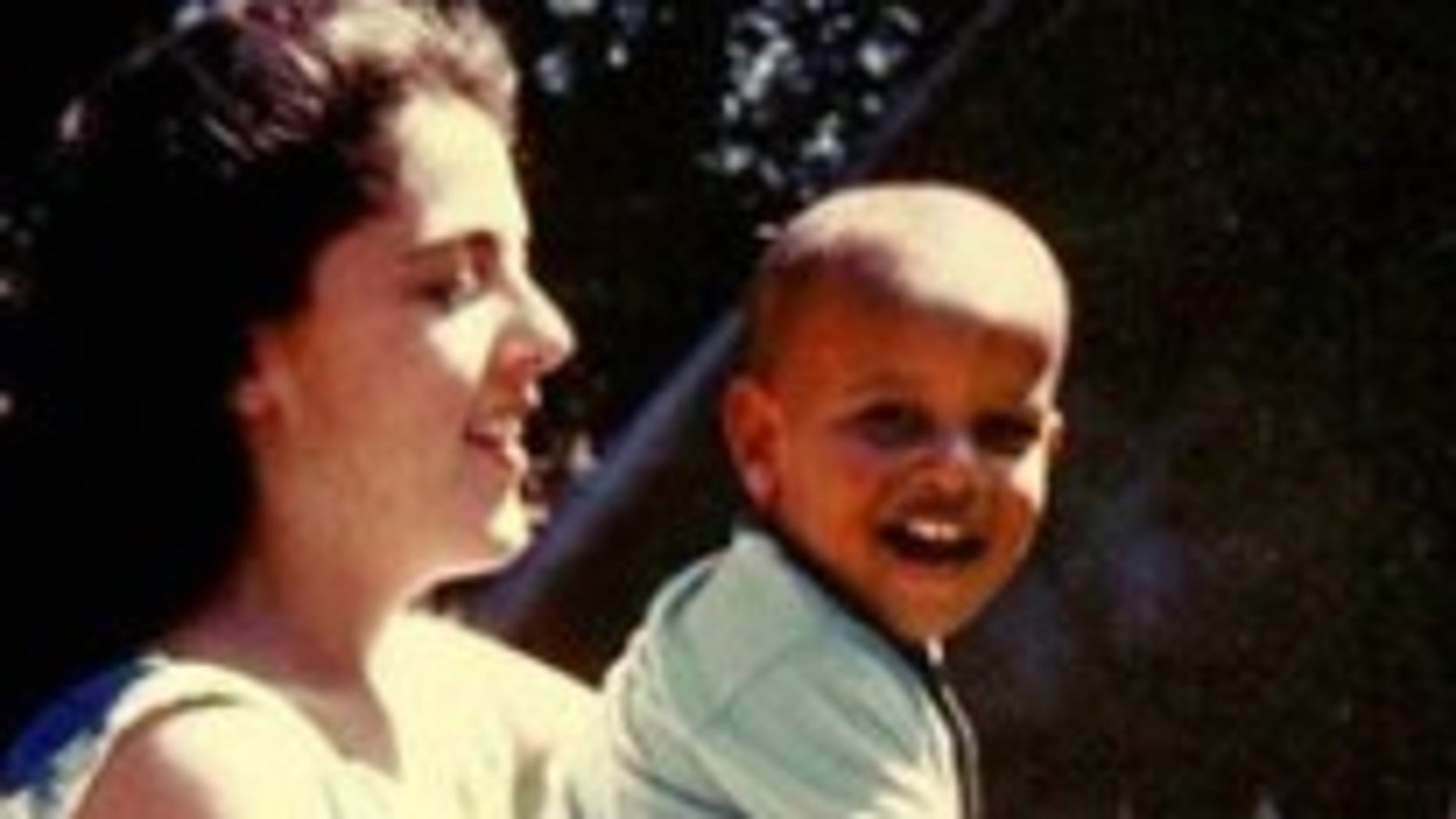 A young Barack Obama with his mother Ann Dunham/AP photo