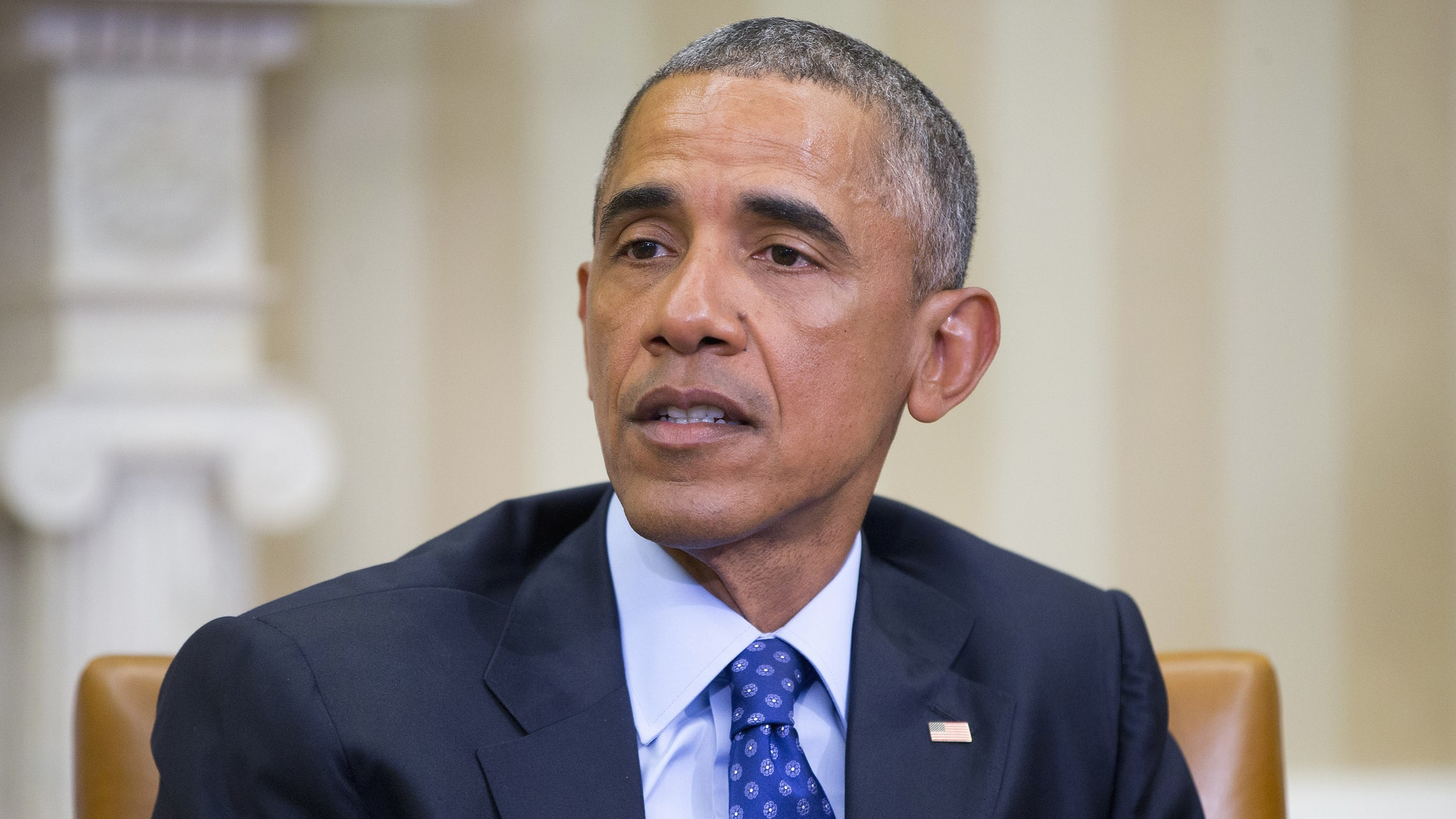 Jan. 4, 2015: President Barack Obama speaks in the Oval Office of the White House in Washington. (AP)