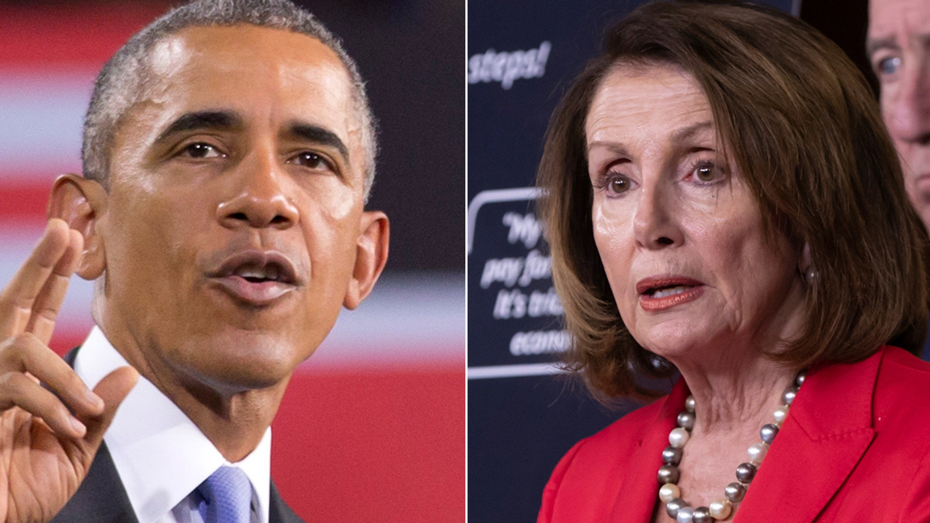 """""""I think everybody knows how much I love Nancy Pelosi,"""" former President Barack Obama said Friday at a Democratic Party fundraiser in California."""