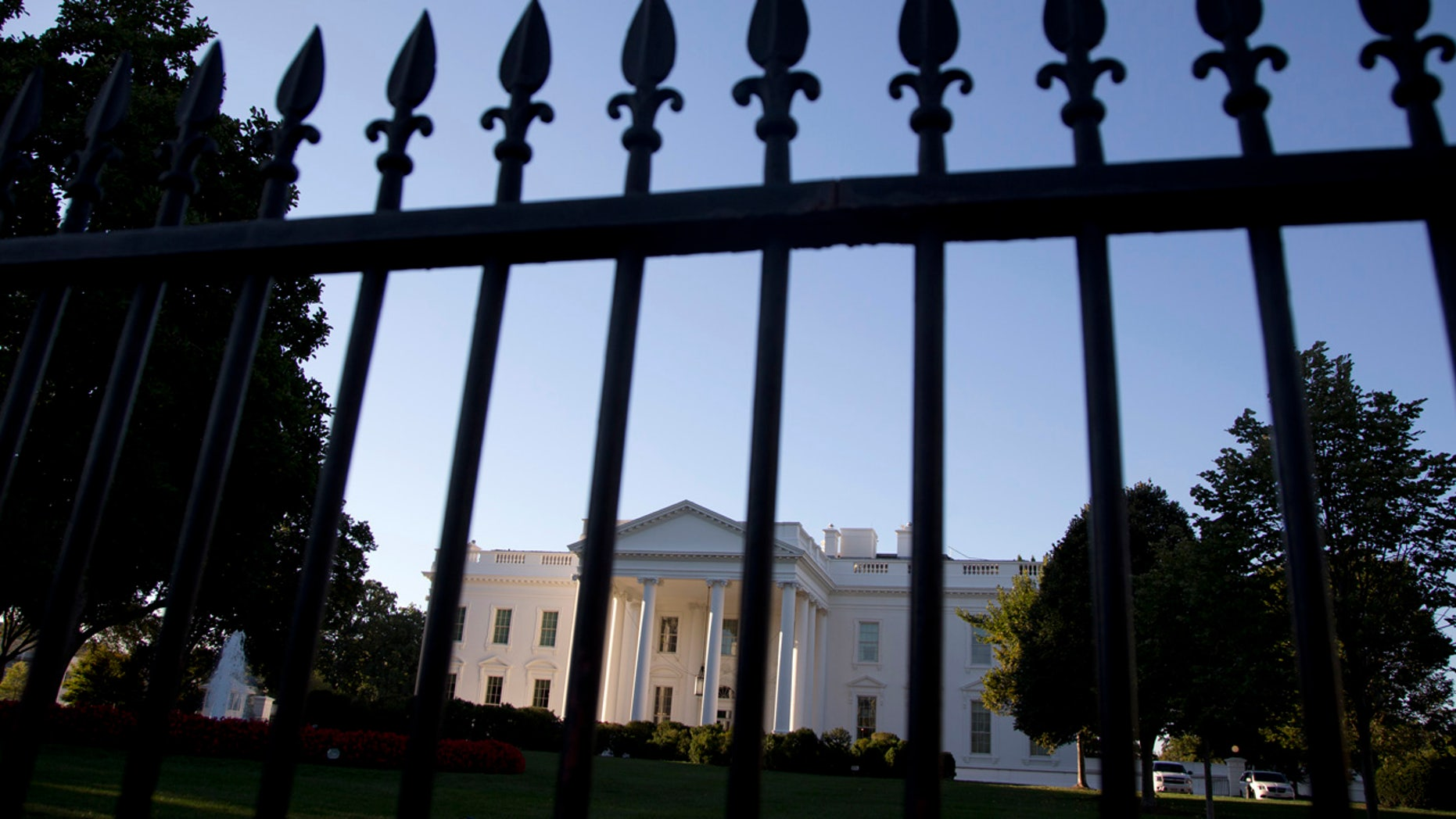 FILE - In this Sept. 22, 2014, file photo, the White House is photographed from Pennsylvania Avenue in Washington.