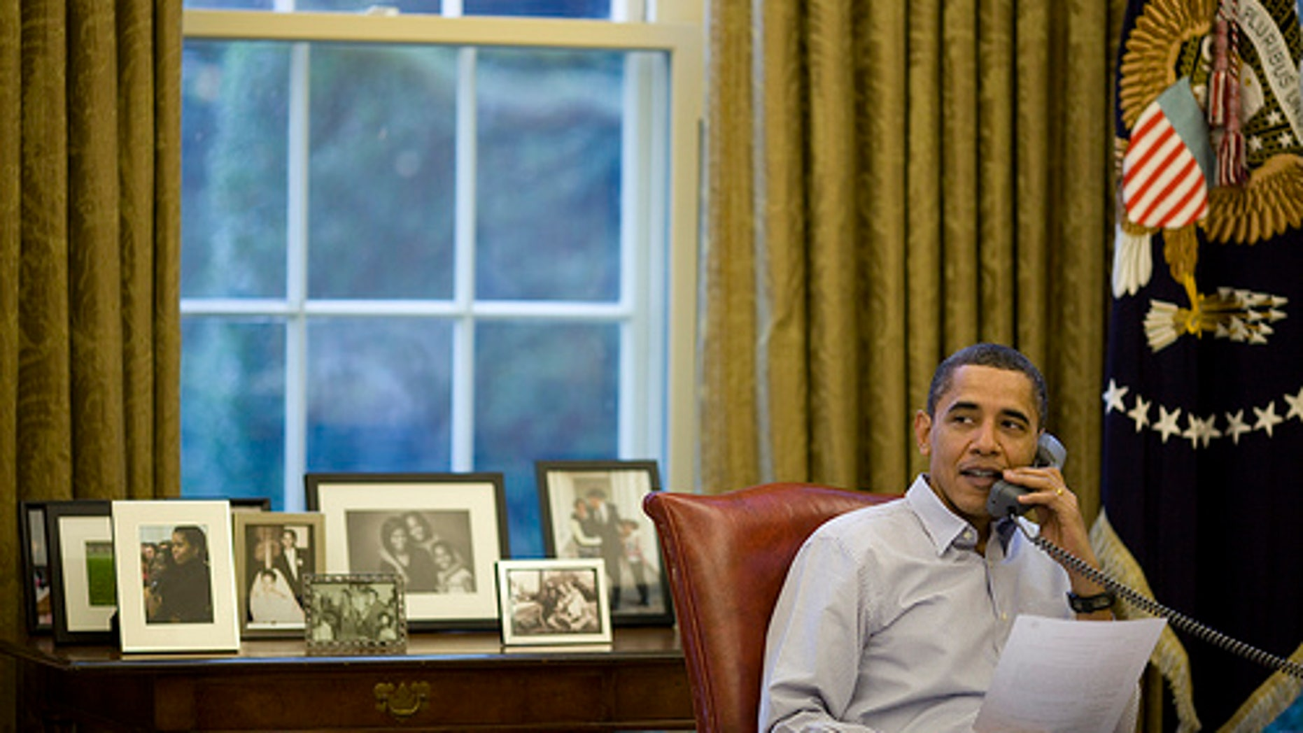 President Obama Calls Troops
