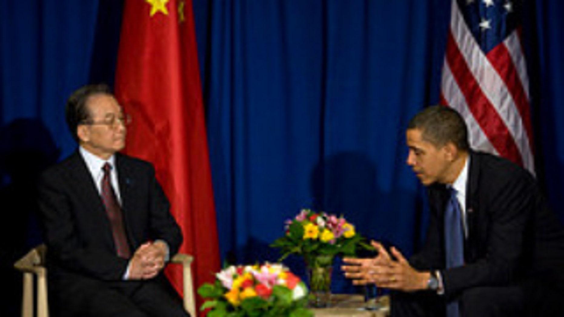 President Obama and Chinese Premier Wen Jiabao. White House Photo.