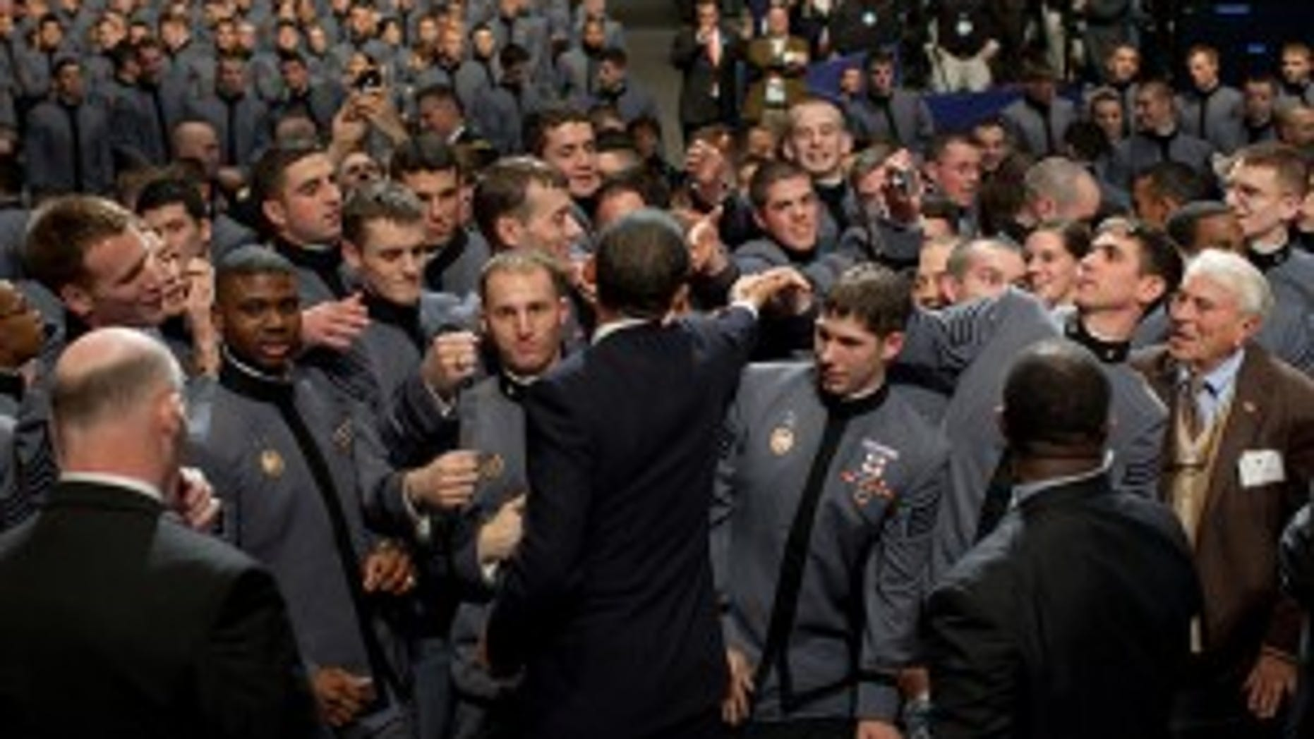 President Barack Obama greets cadets after delivering a speech on Afghanistan at the U.S. Military Academy at West Point in West Point, N.Y., Dec. 1, 2009. (Official White House Photo by Pete Souza)
