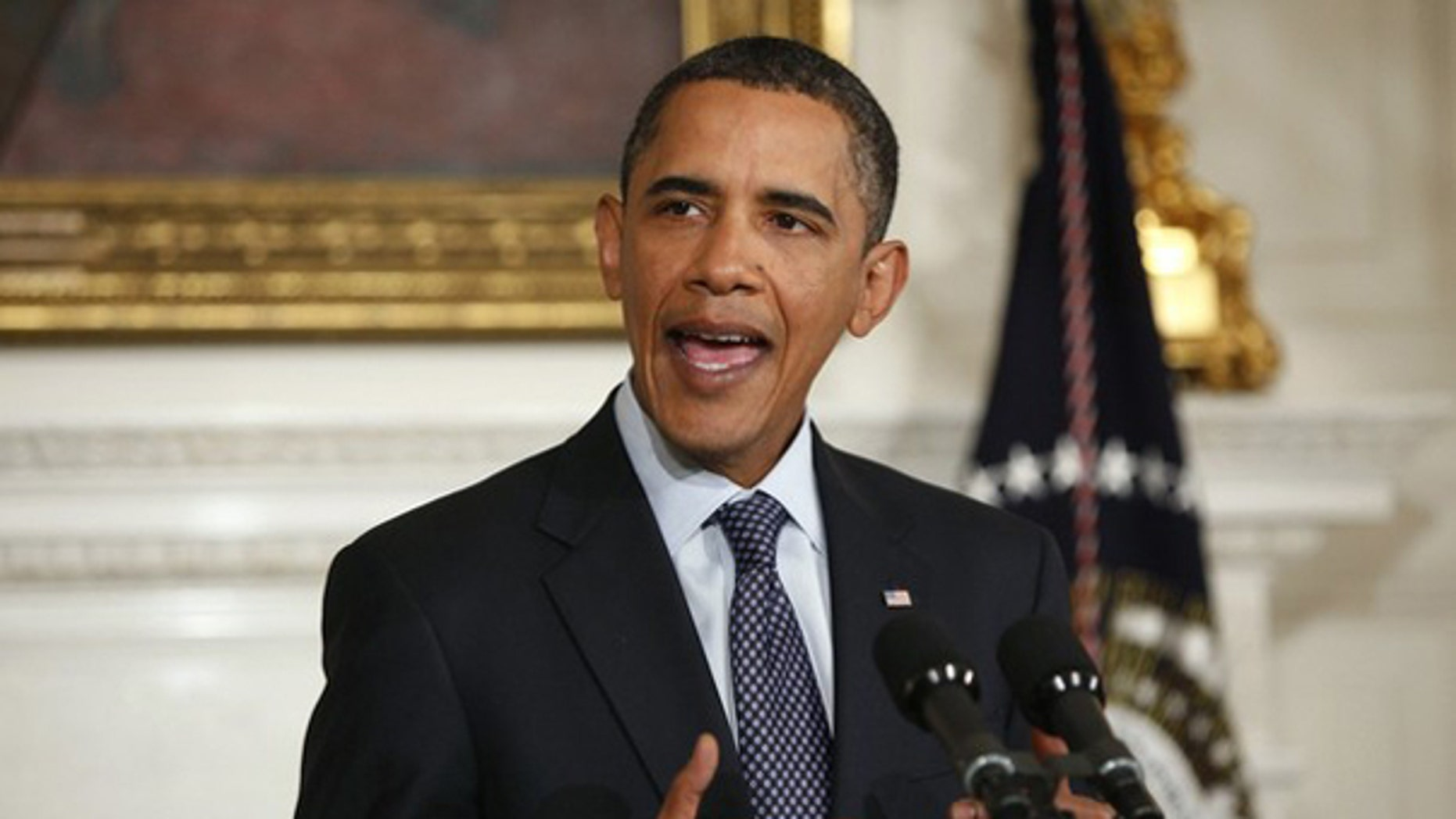 President Obama talks to reporters at the White House Jan. 7. (Reuters Photo)