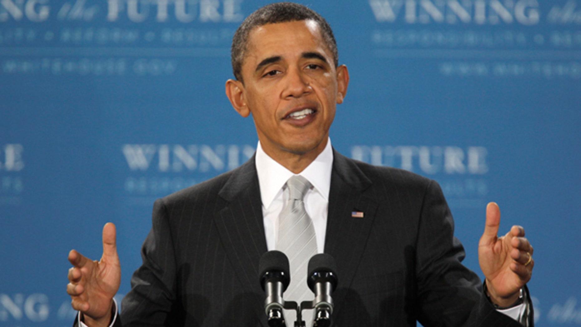 Monday: President Obama speaks at Kenmore Middle School in Arlington, Va.