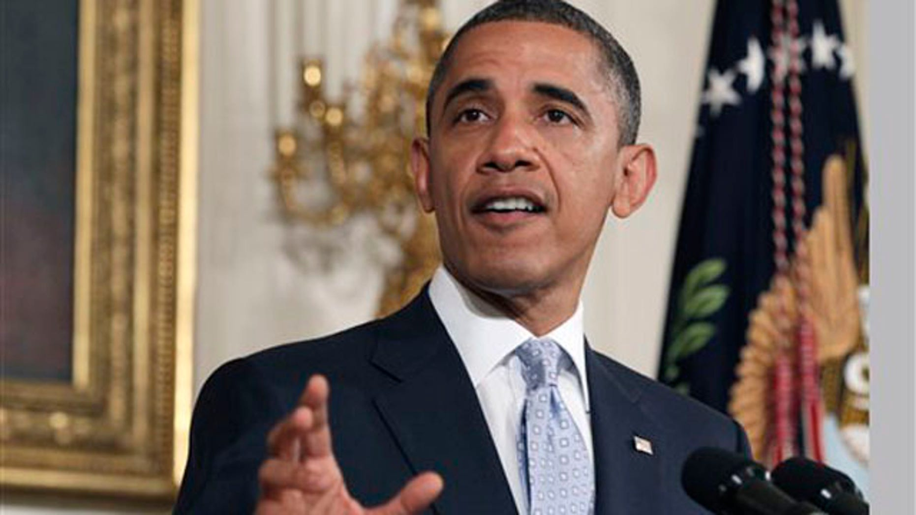 President Obama speaks about the economy and Wall Street in the White House Aug. 8.